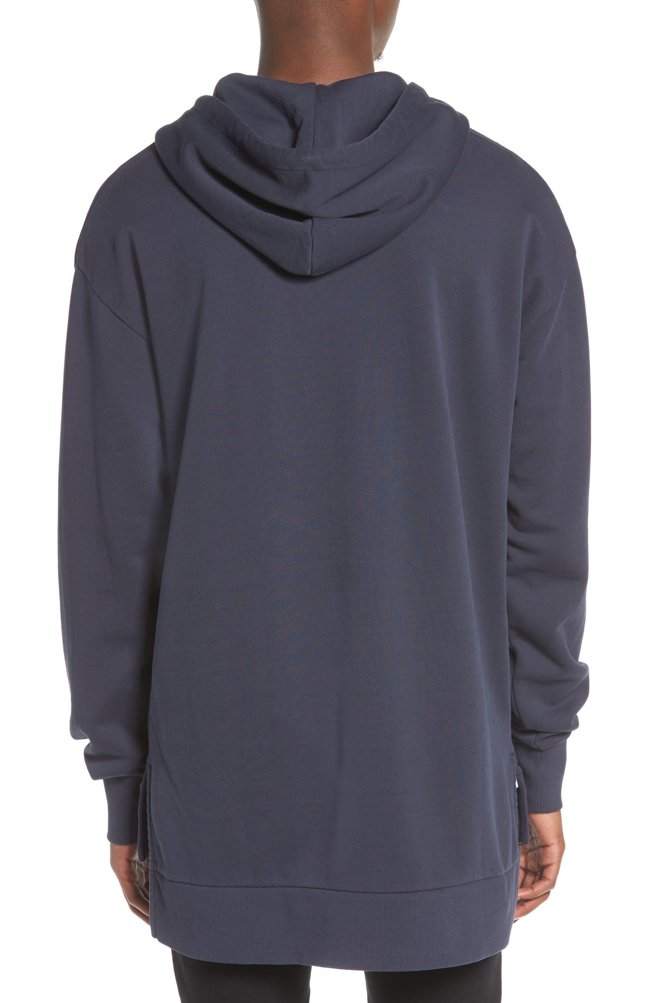 Brand Rugger Hooded Sweatshirt,                             Alternate thumbnail 2, color,                             Duke Blue