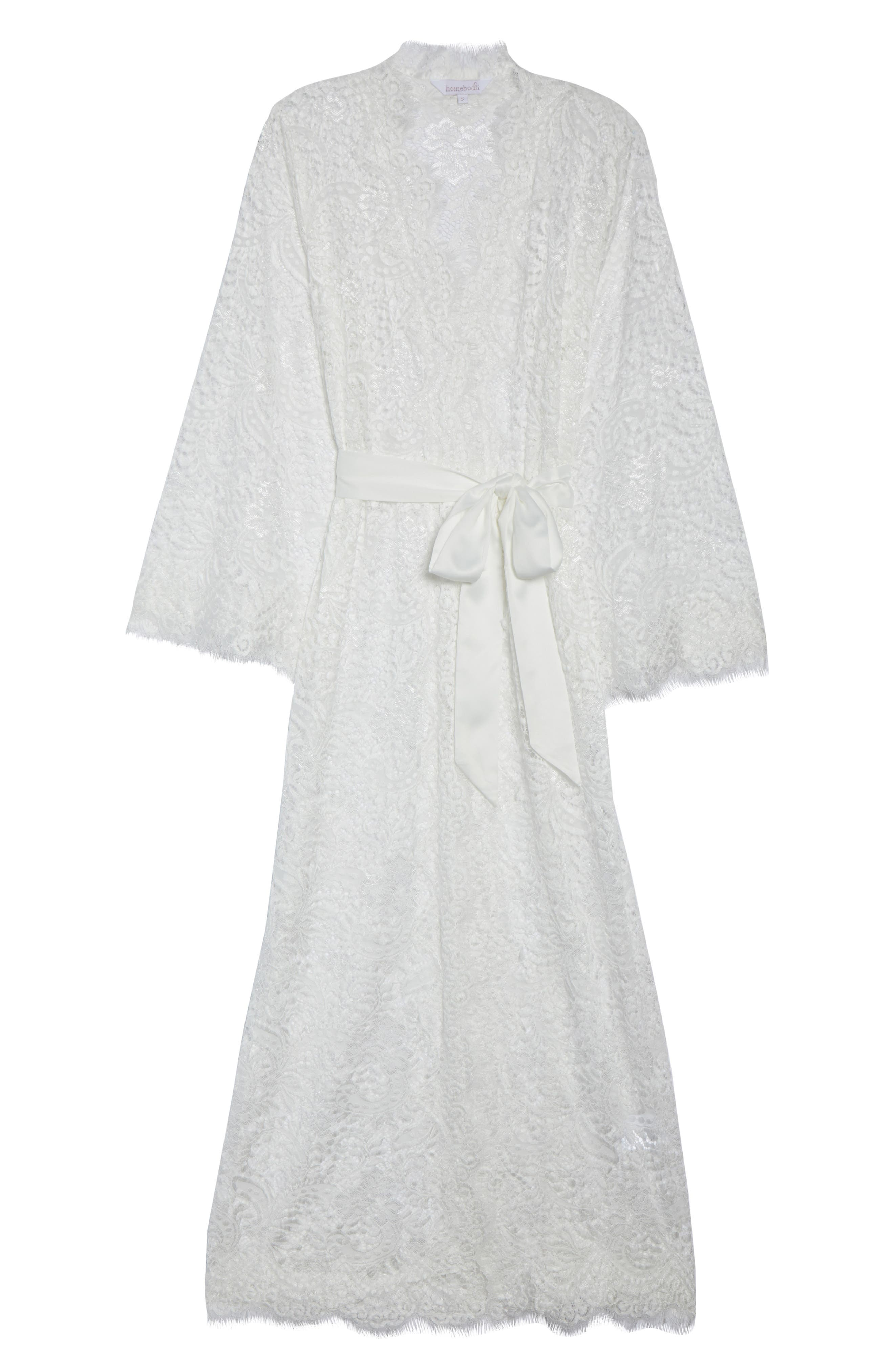 Anemone Long Lace Wrap,                             Alternate thumbnail 4, color,                             White