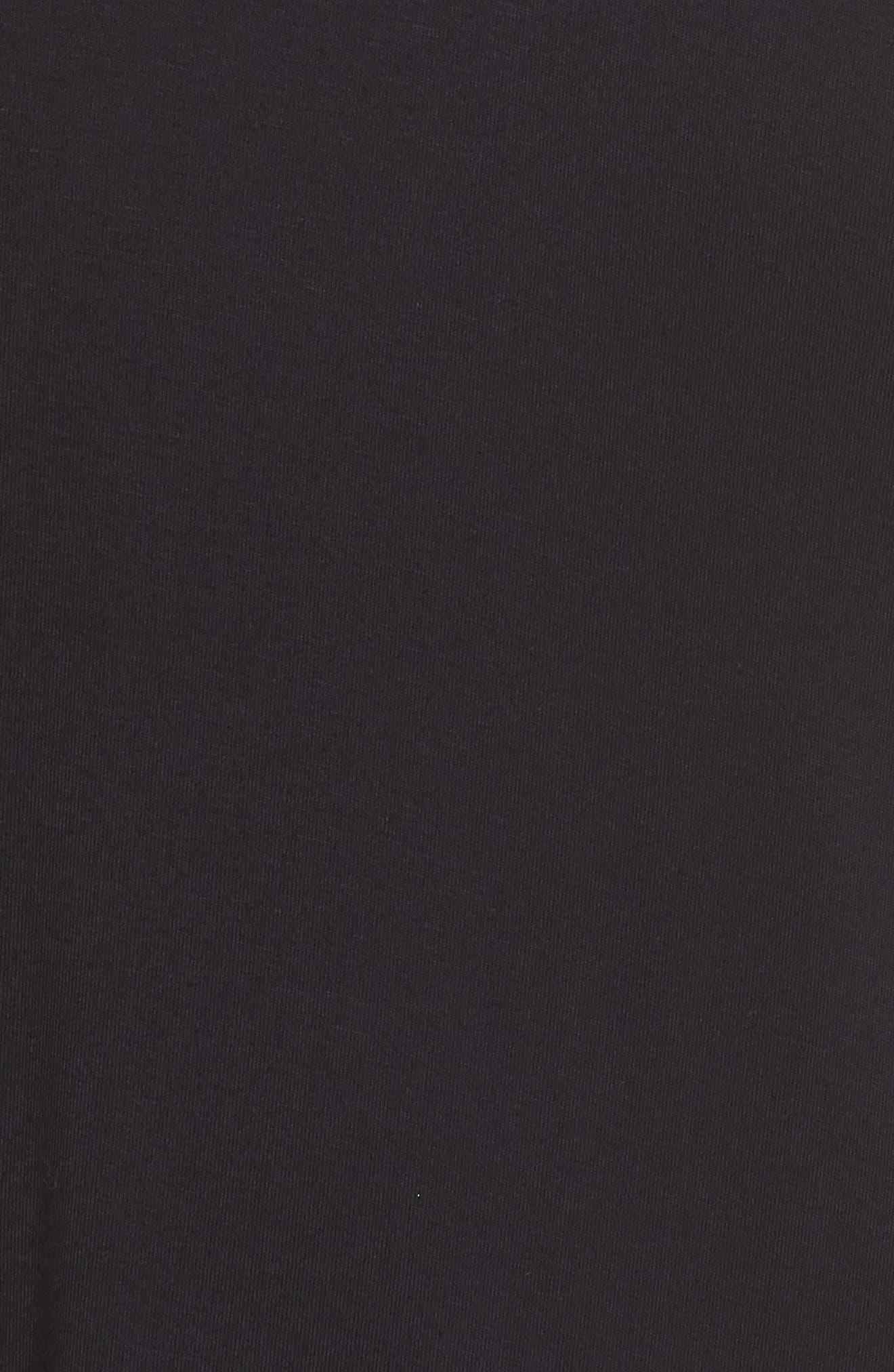 Crochet Mesh Yoke Tank,                             Alternate thumbnail 5, color,                             Black