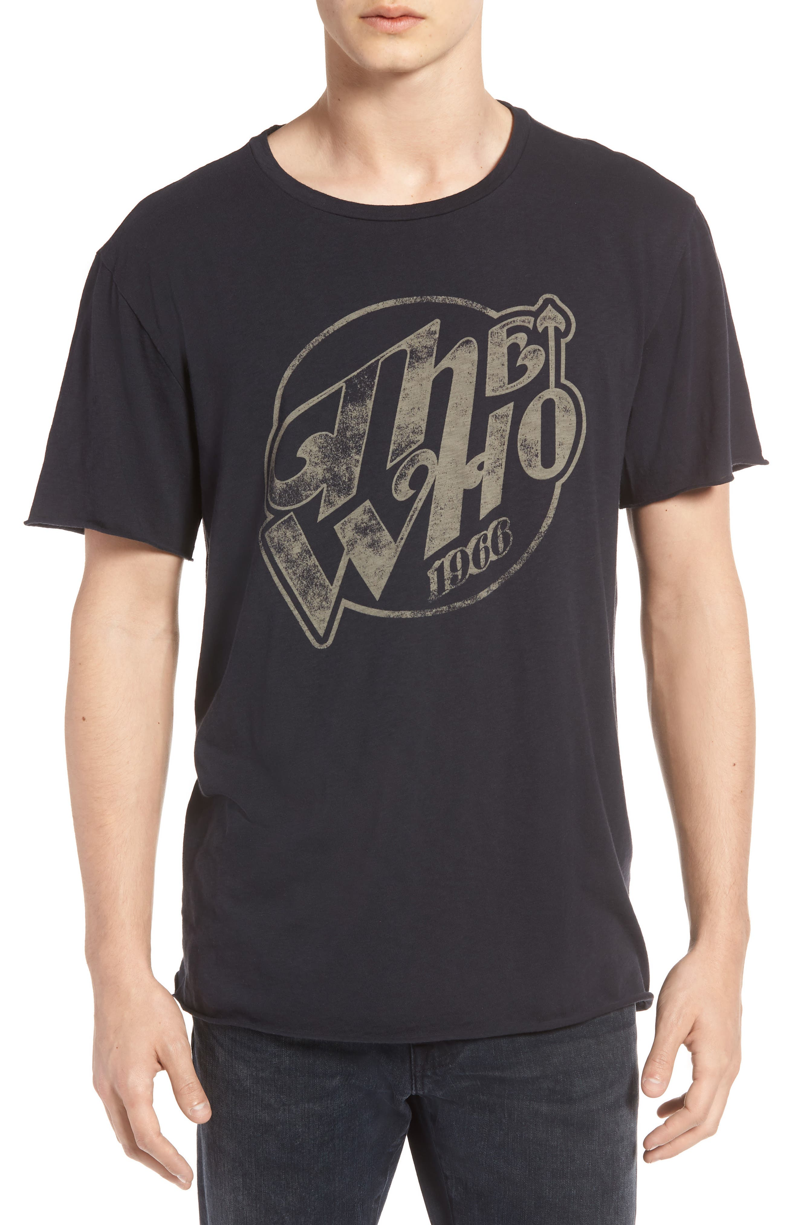 The Who Trim Fit T-Shirt,                             Main thumbnail 1, color,                             Black The Who