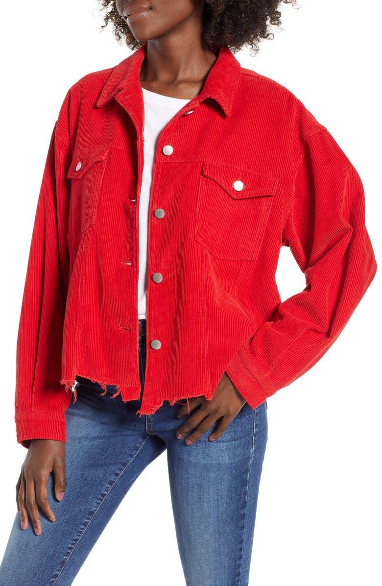 Tinsel Raw Hem Corduroy Jacket | Nordstrom