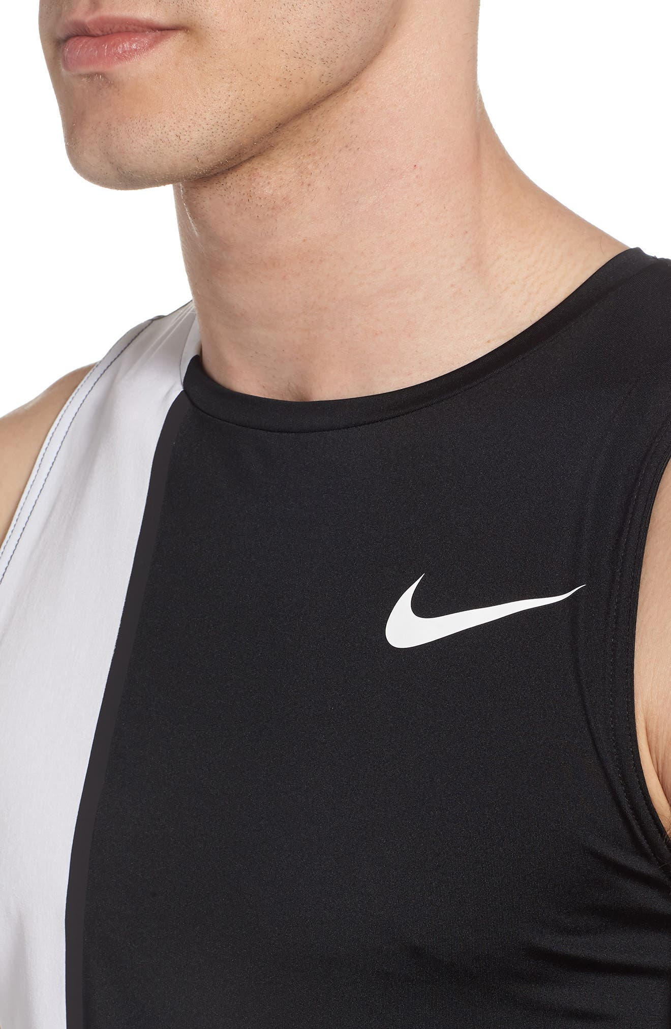 Fitted Tank,                             Alternate thumbnail 4, color,                             White
