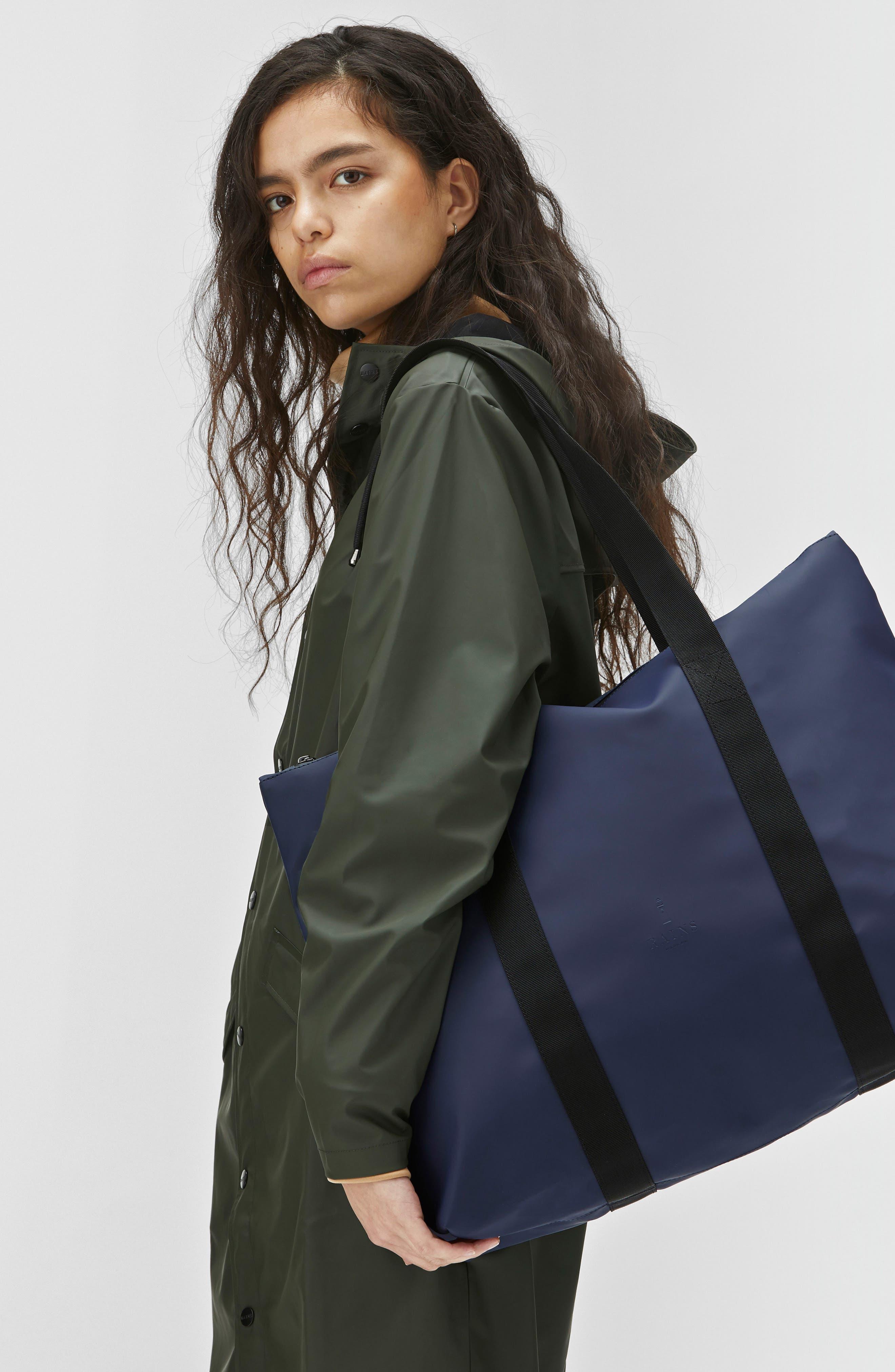 Waterproof Tote Bag,                             Alternate thumbnail 4, color,                             Blue