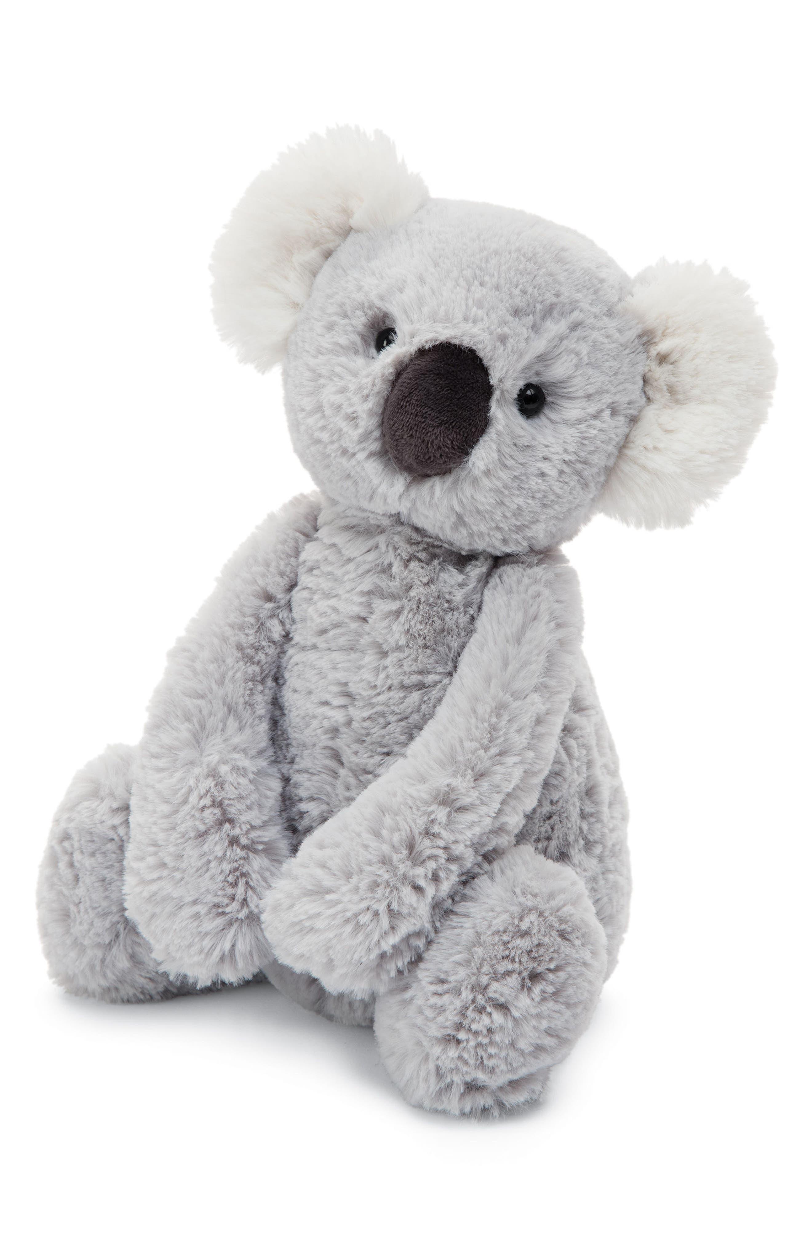 Bashful Koala Stuffed Animal,                         Main,                         color, Grey