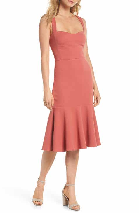 Gal Meets Glam Collection Rae Sweetheart Scuba Crepe Dress