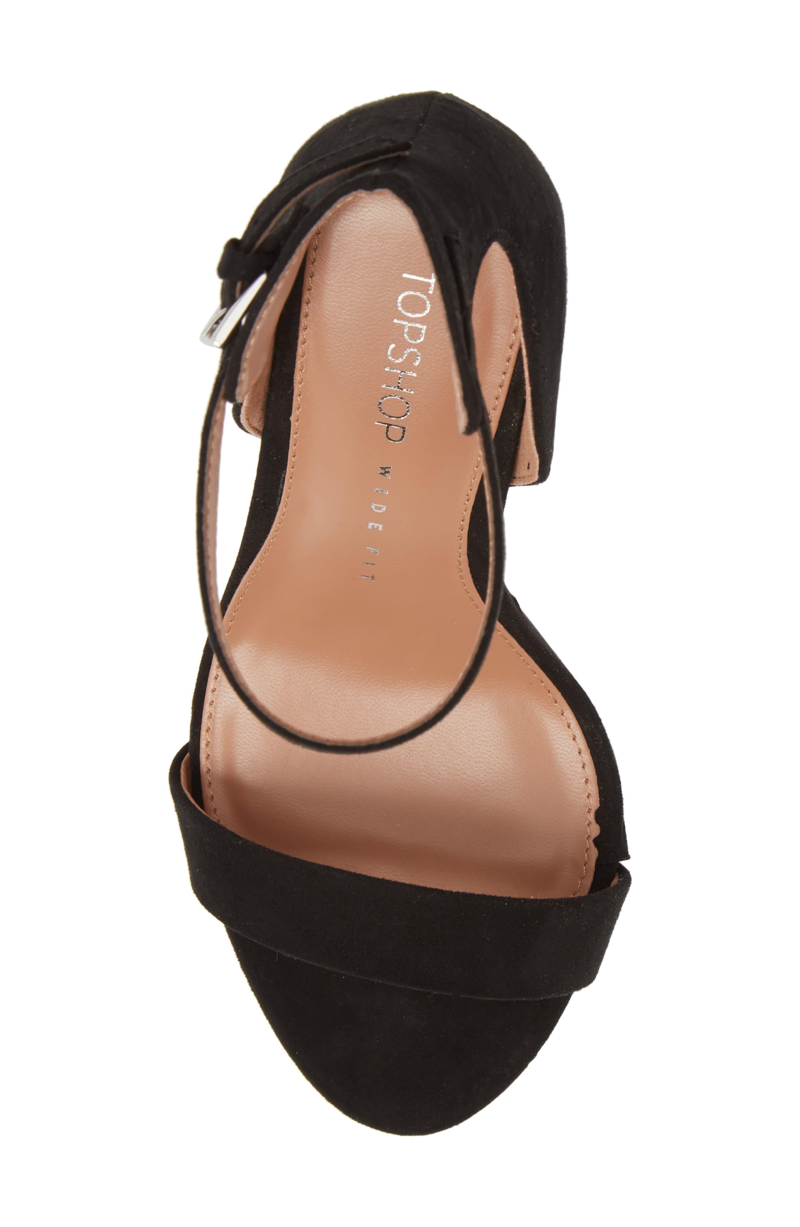 Marcelle Ankle Strap Sandal,                             Alternate thumbnail 5, color,                             Black