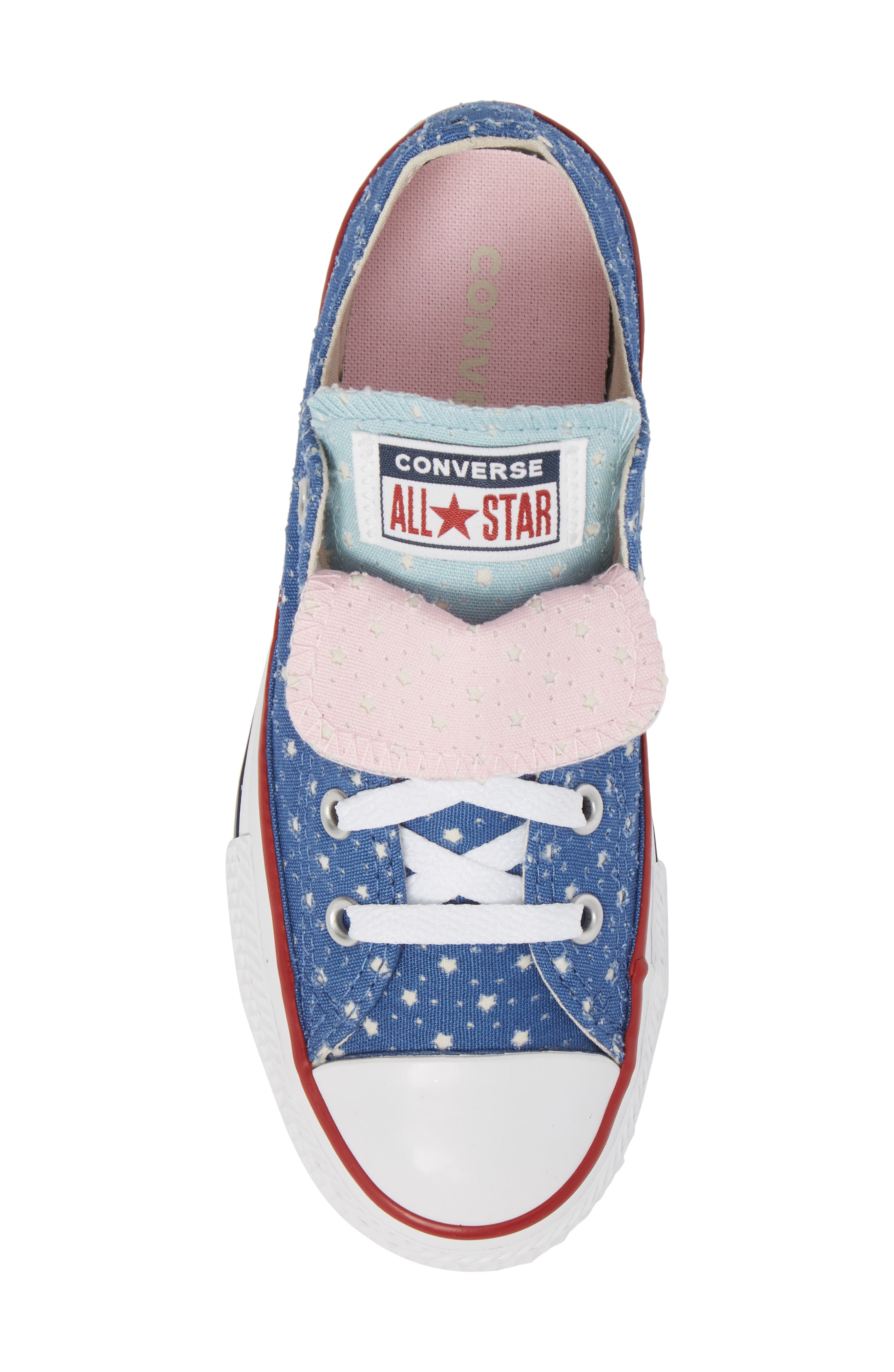 Chuck Taylor<sup>®</sup> All Star<sup>®</sup> Double Tongue Sneaker,                             Alternate thumbnail 5, color,                             Nightfall Blue