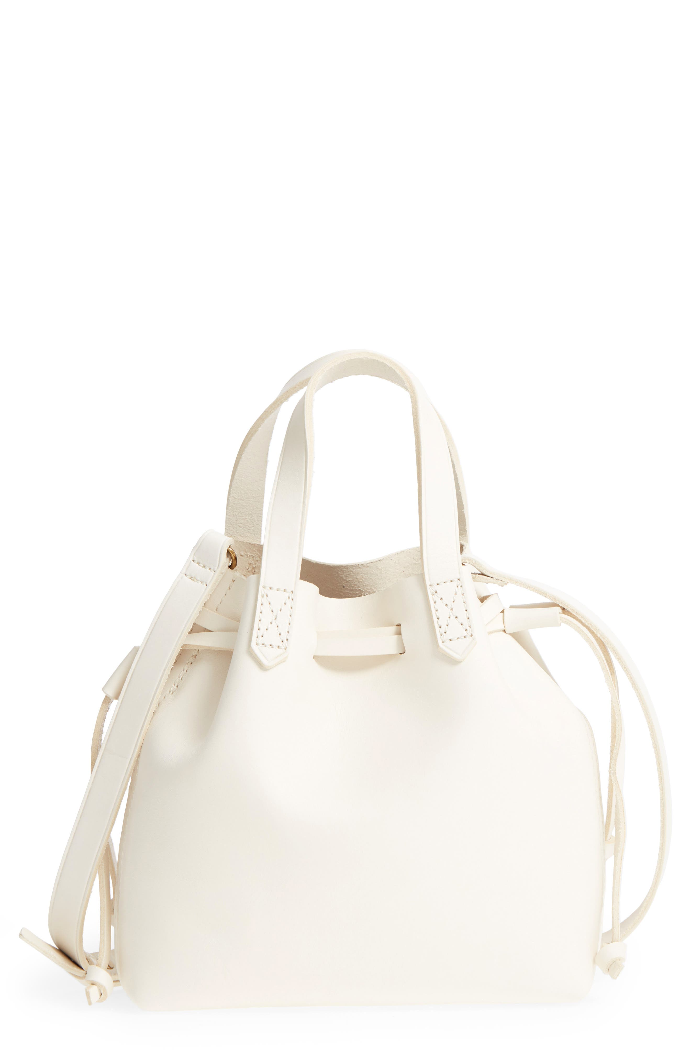 Madewell Mini Drawstring Transport Leather Tote