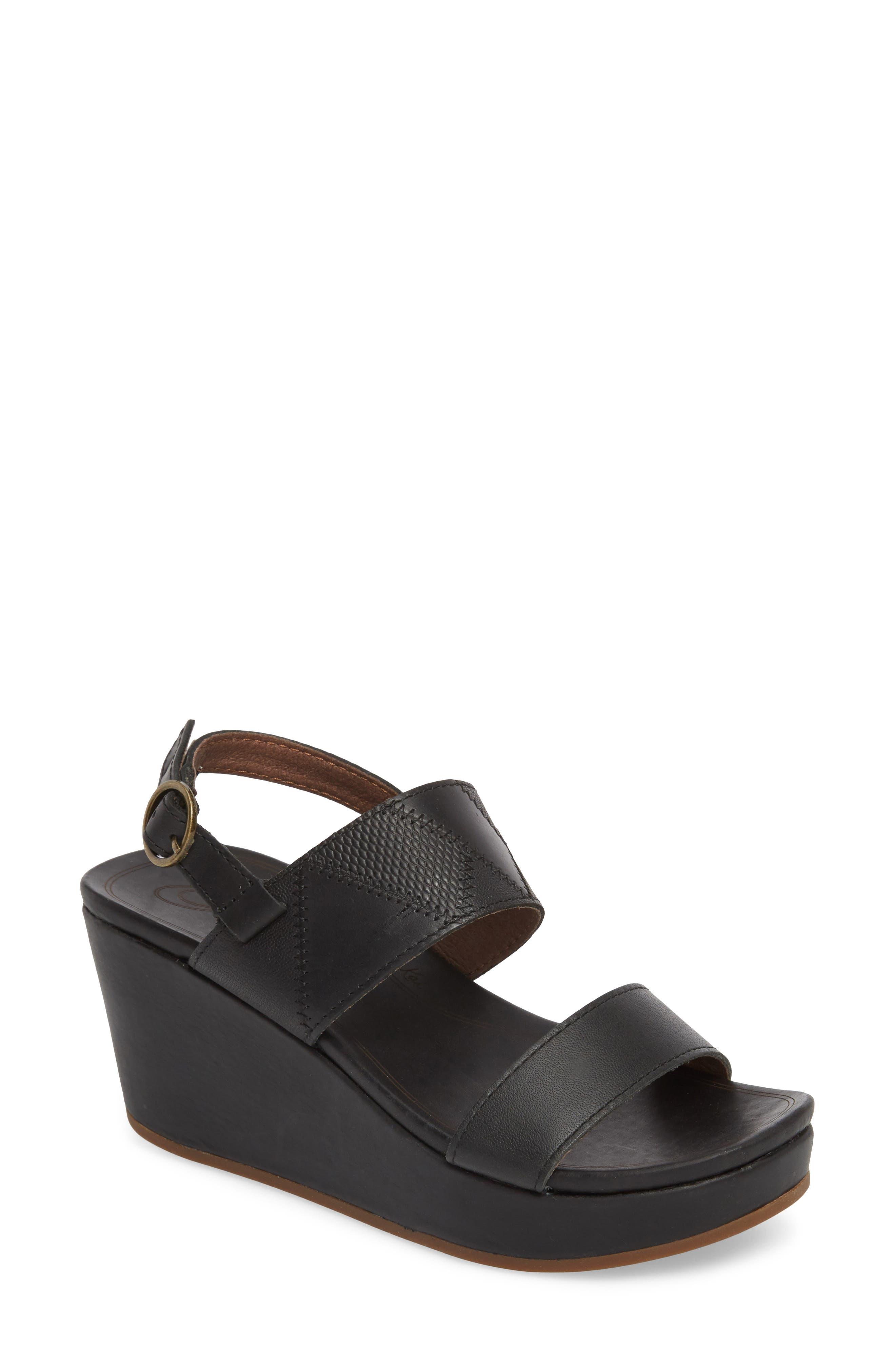 OluKai Keha Platform Wedge Sandal (Women)