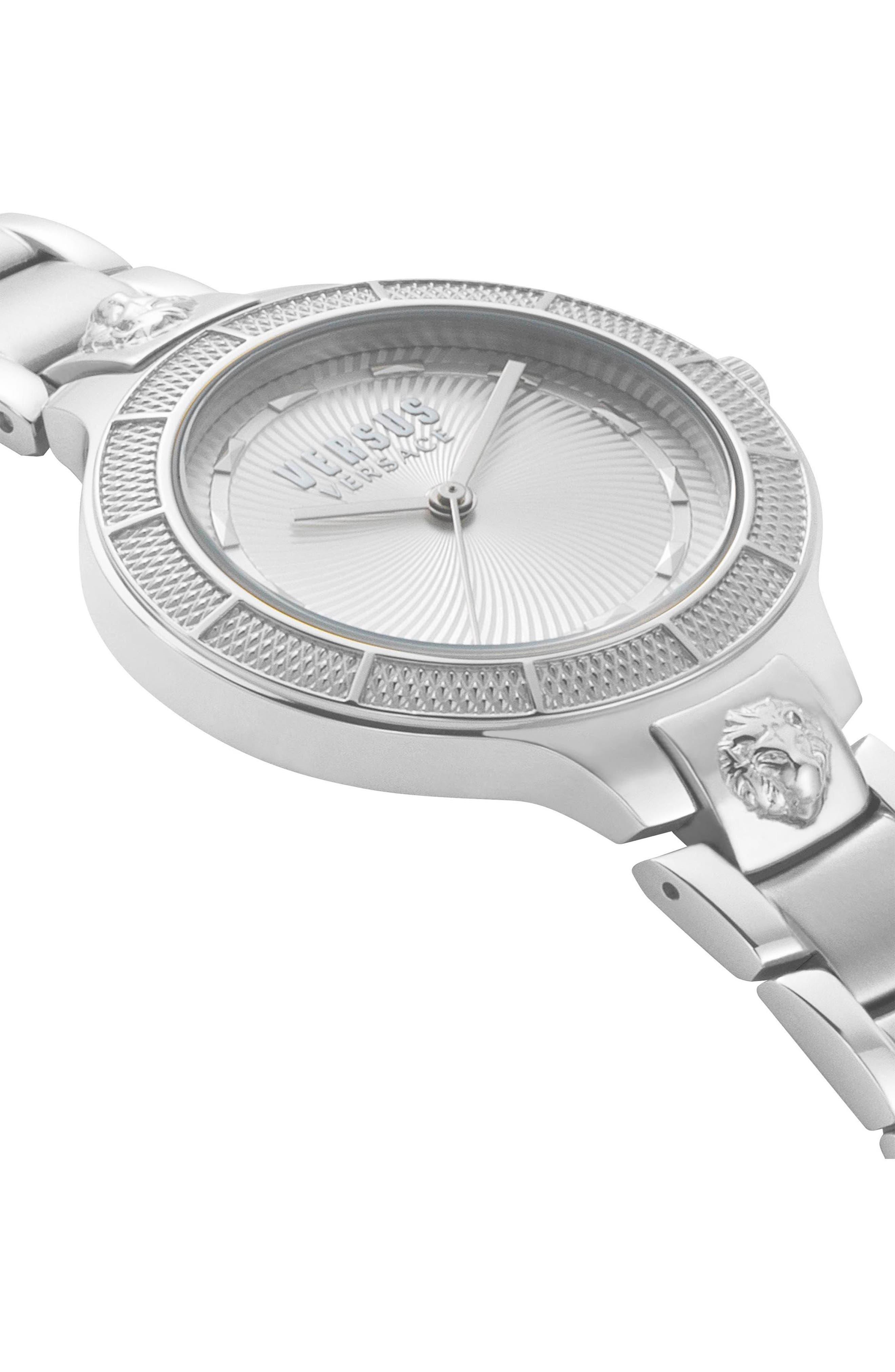 VERSUS by Versace Claremont Bracelet Watch, 32mm,                             Alternate thumbnail 3, color,                             Silver