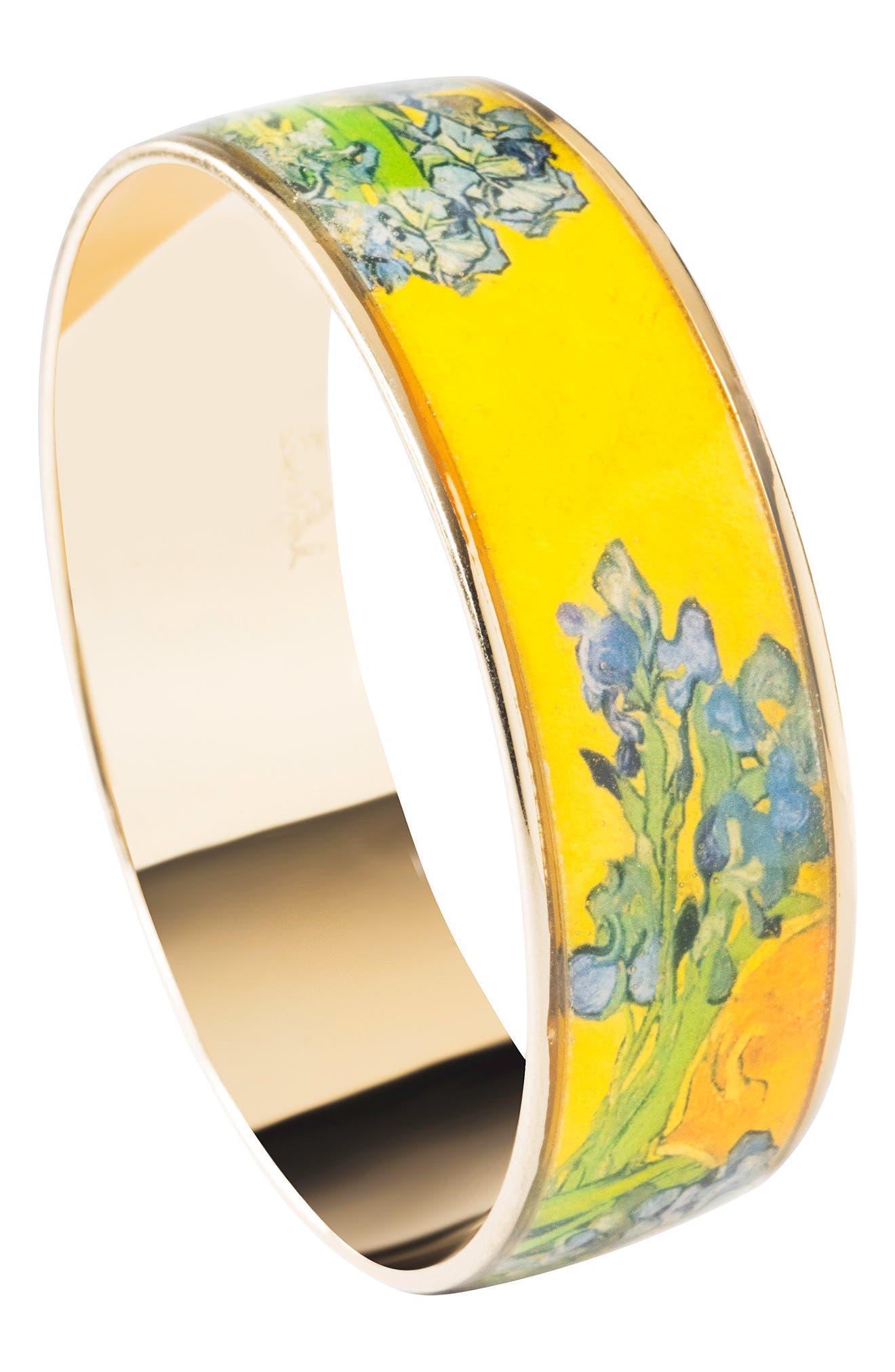 Irises Medium Bangle Bracelet,                             Alternate thumbnail 2, color,                             Yellow/ Gold