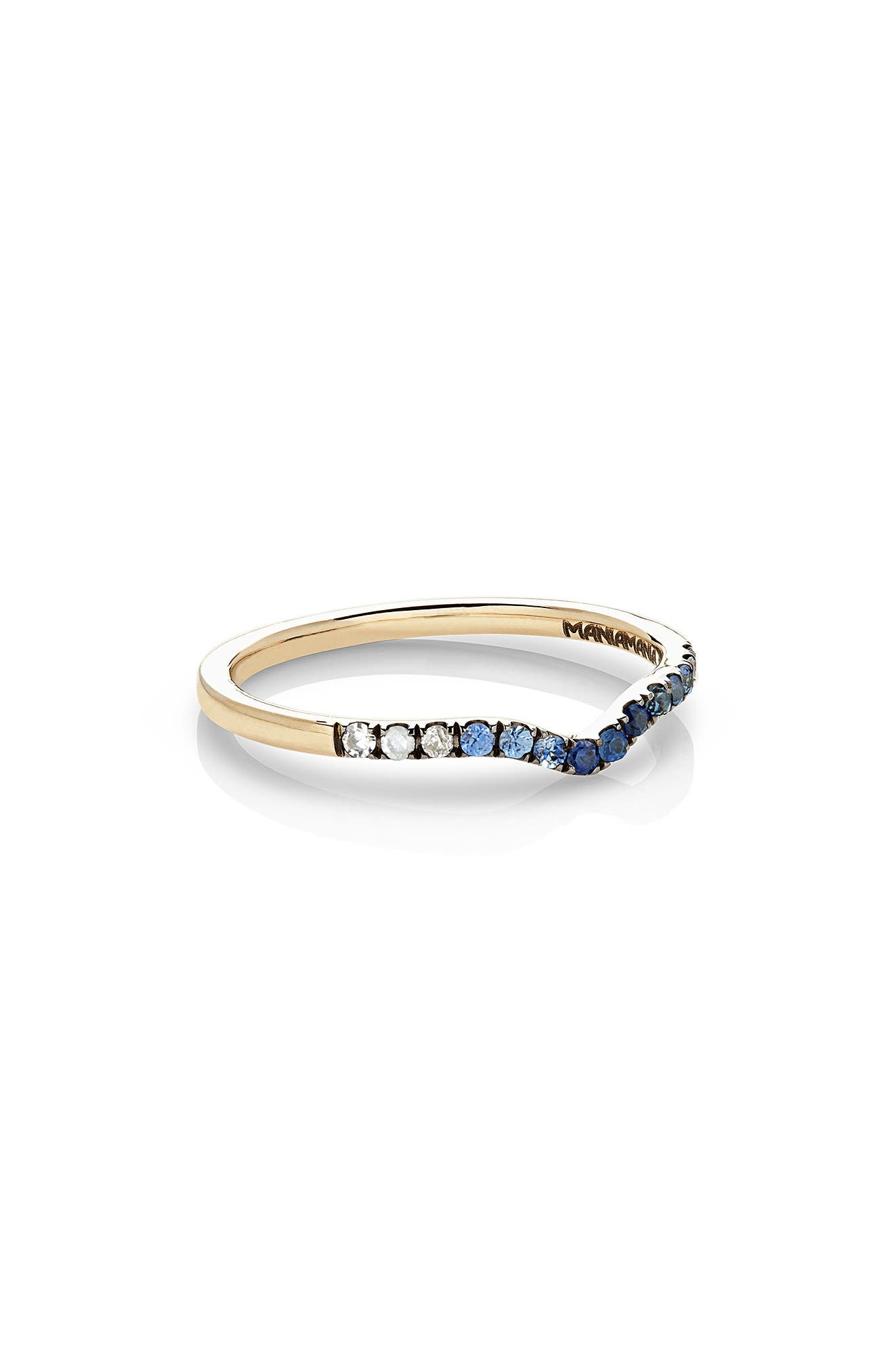 Unity Gradient Sapphire Band Ring,                         Main,                         color, Blue Sapphire/ Yellow Gold