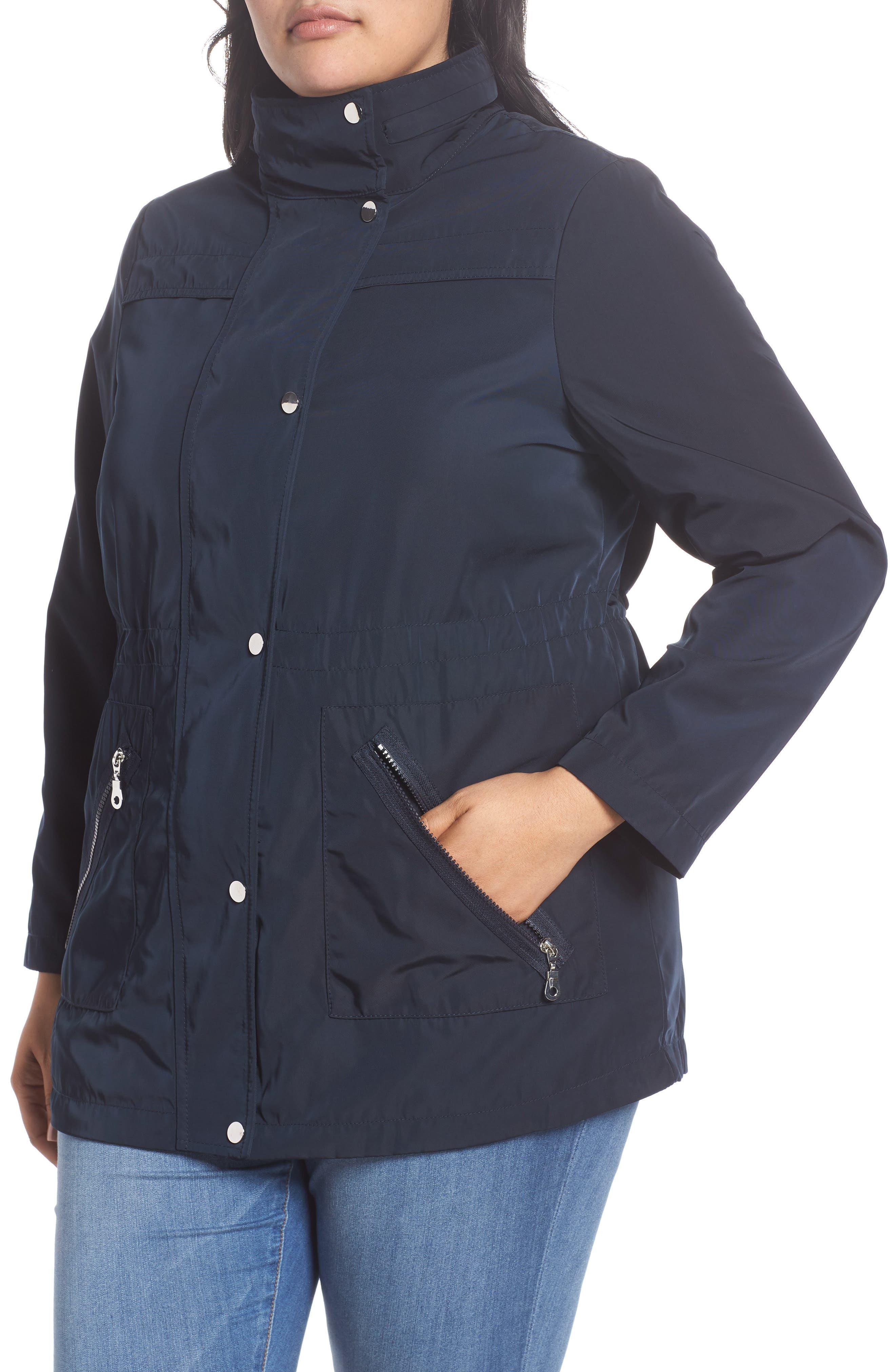 Zip Trim Jacket,                             Alternate thumbnail 8, color,                             Navy Blue