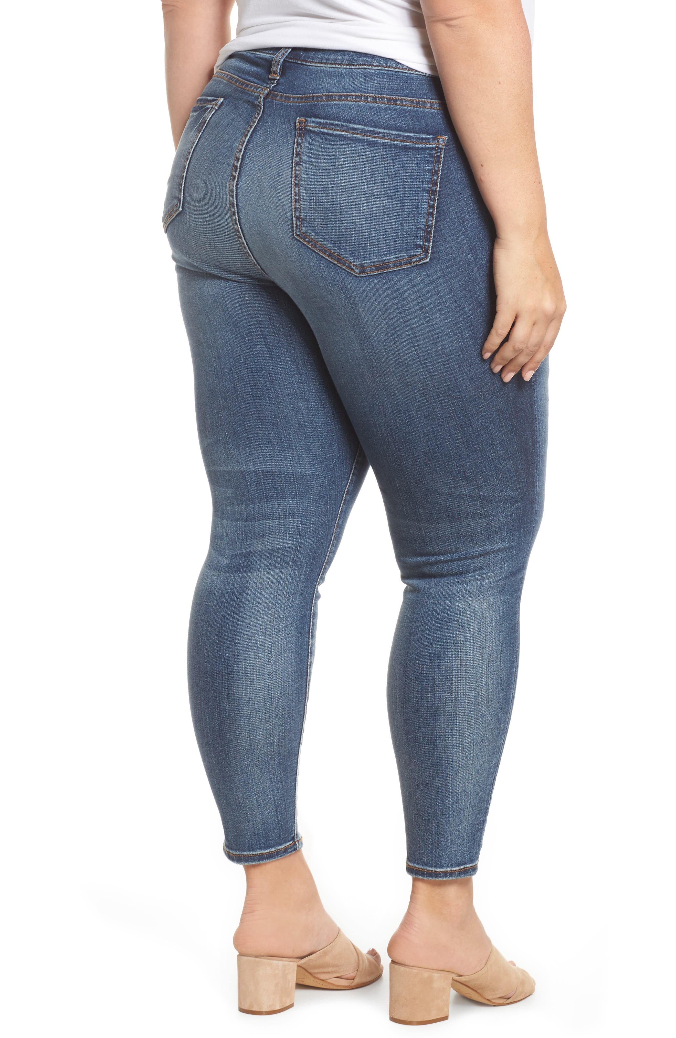 Reese Seam Ankle Skinny Jeans,                             Alternate thumbnail 2, color,                             Poetic