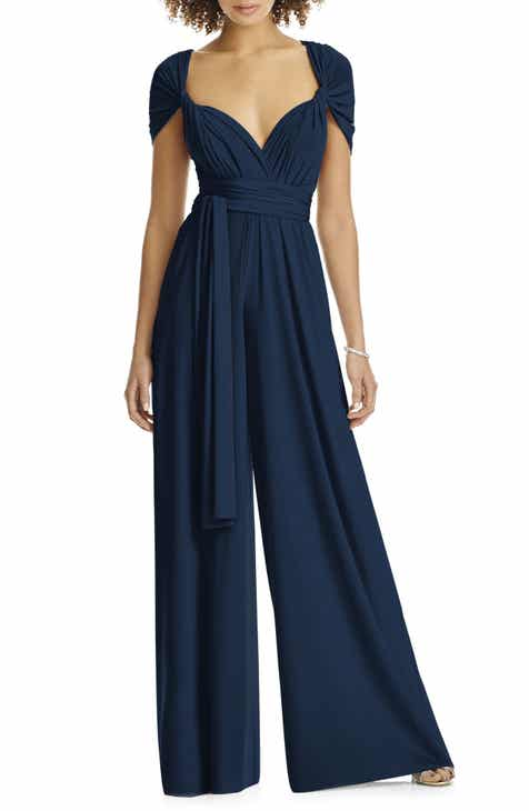 038062b9c047 Dessy Collection Convertible Wide Leg Jersey Jumpsuit (Regular & Plus)