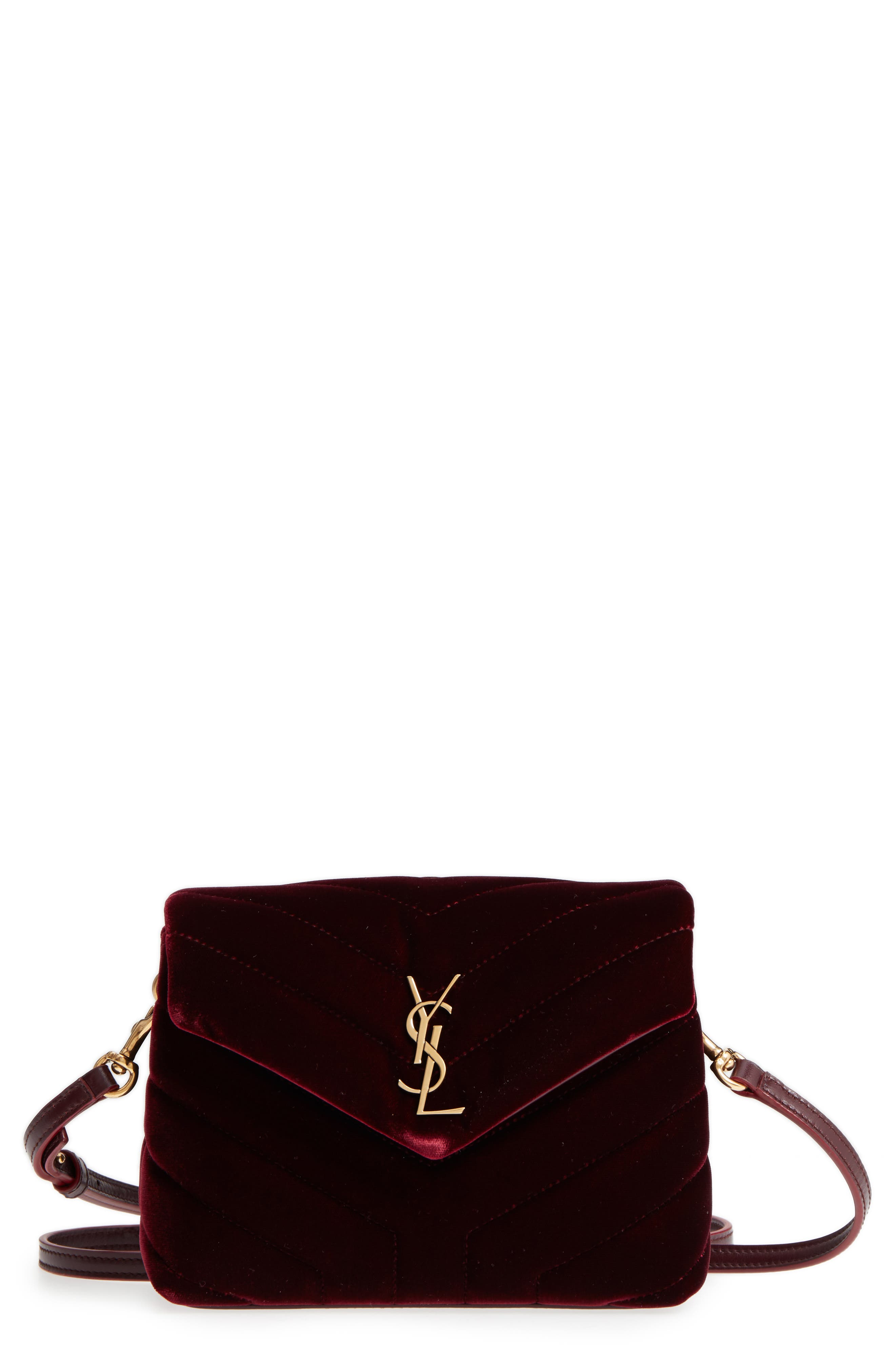 Saint Laurent Toy Lou Lou Velvet Crossbody Bag