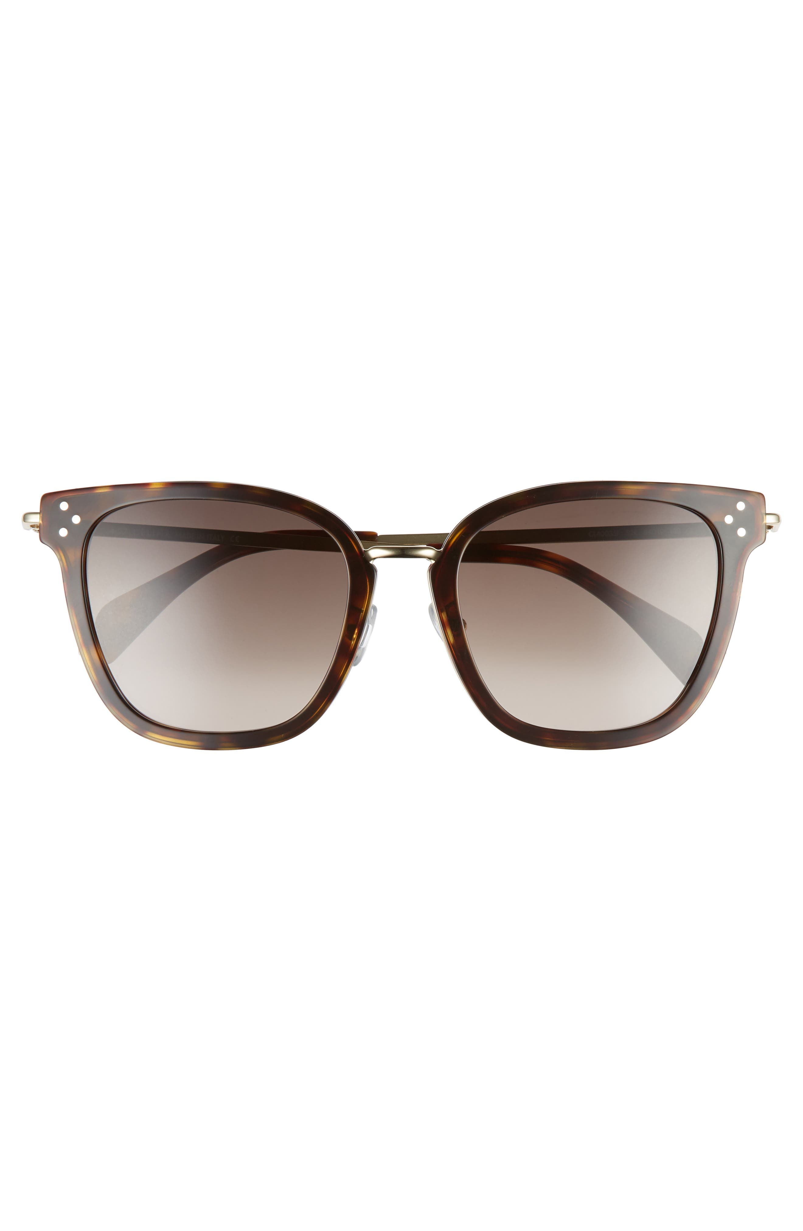 Special Fit 54mm Sunglasses,                             Alternate thumbnail 3, color,                             Havana/ Gold/ Brown