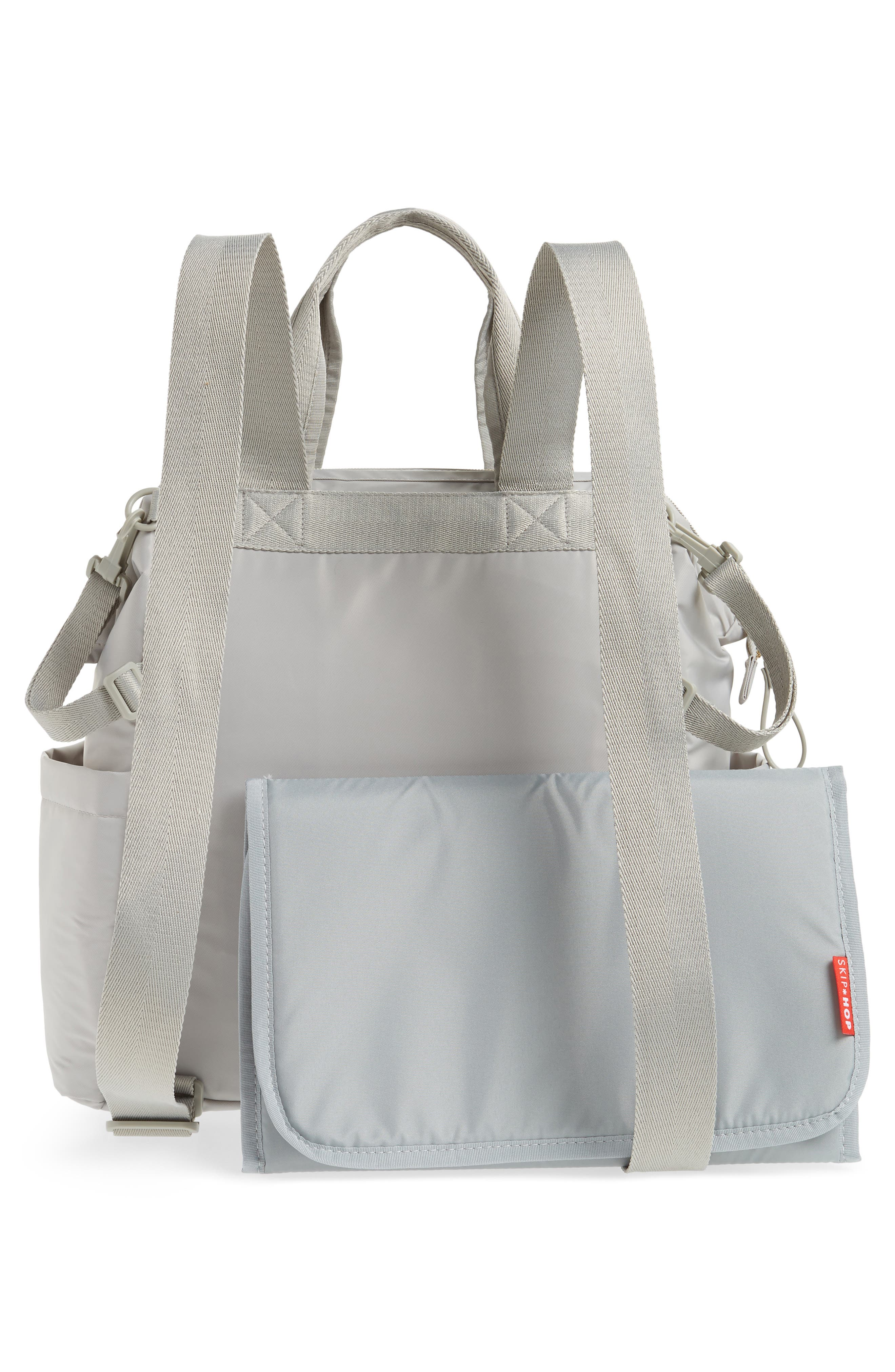 Mainframe Wide Open Diaper Backpack,                             Alternate thumbnail 4, color,                             Grey