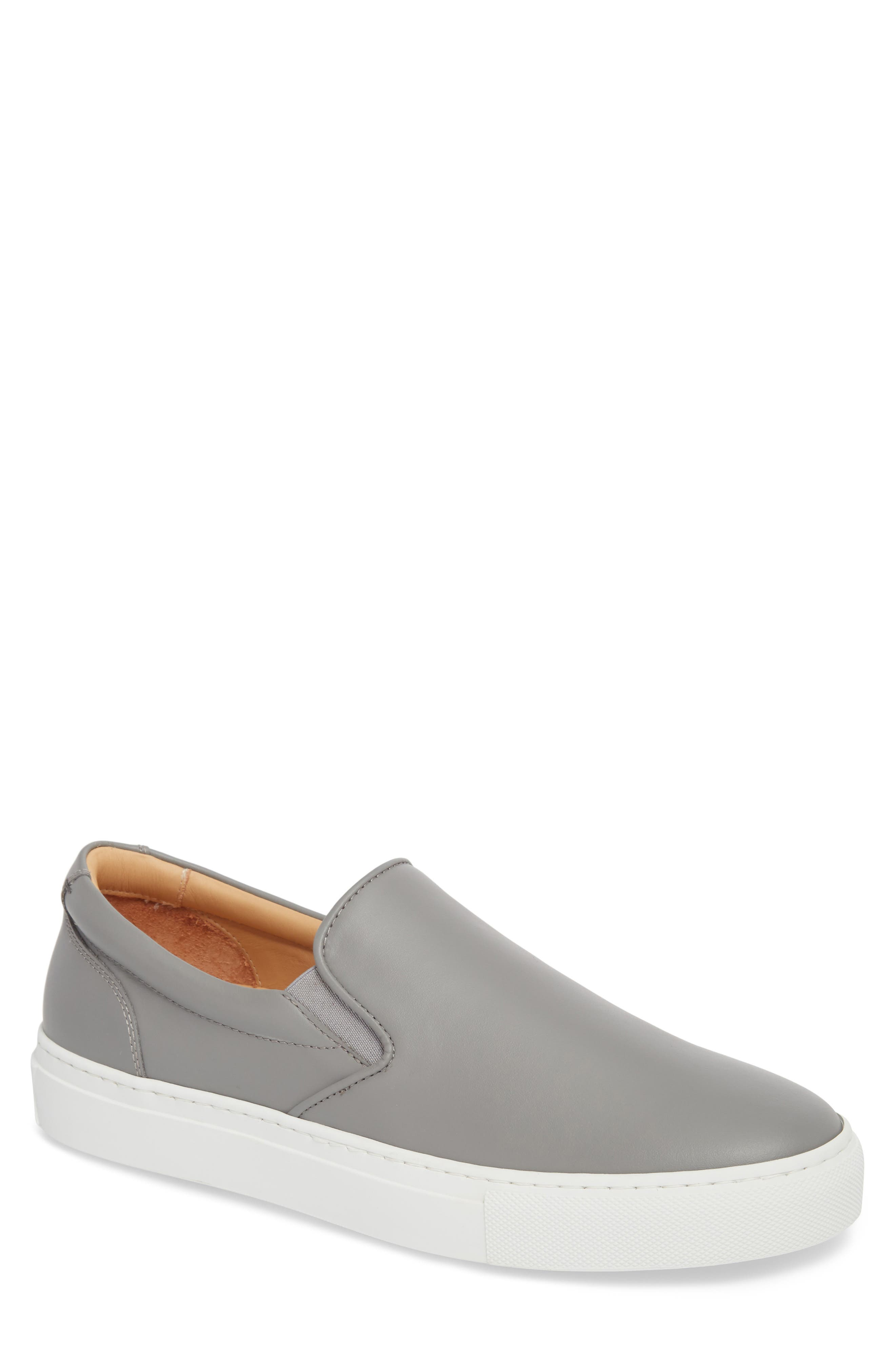 Wooster Slip-On Sneaker,                             Main thumbnail 1, color,                             Grey Leather