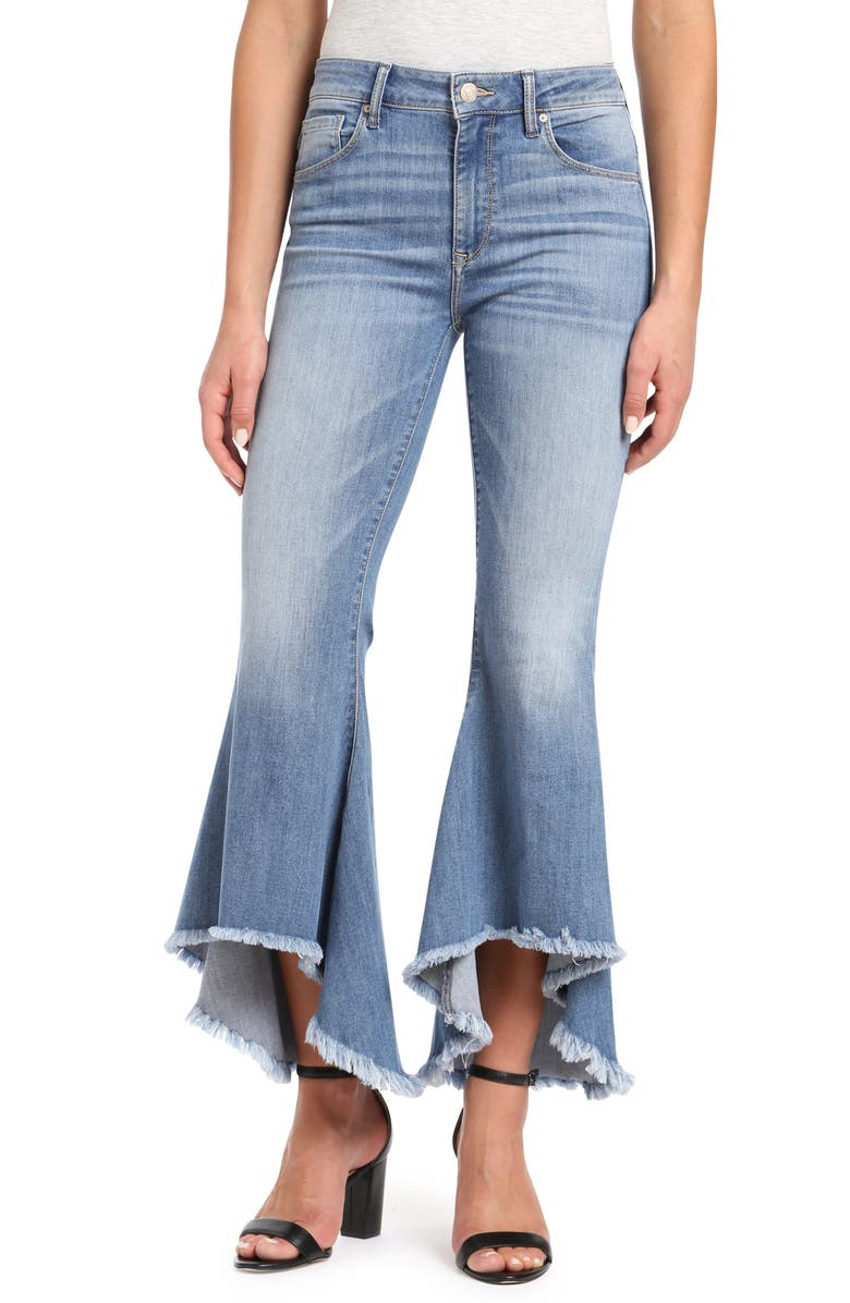 Larissa High/Low Flare Hem Jeans