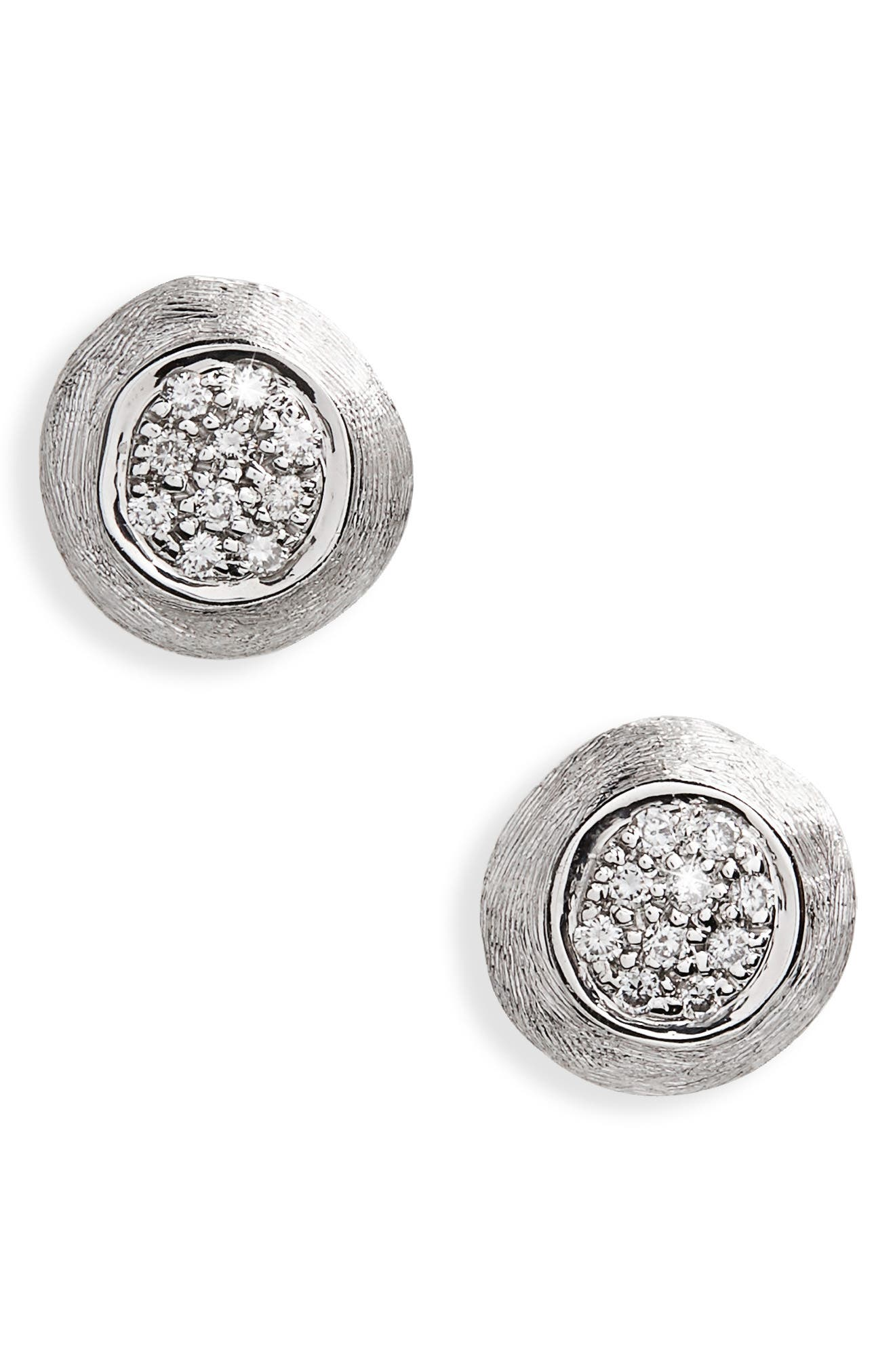 Marco Bicego Jaipur White Diamond Pavé Stud Earrings