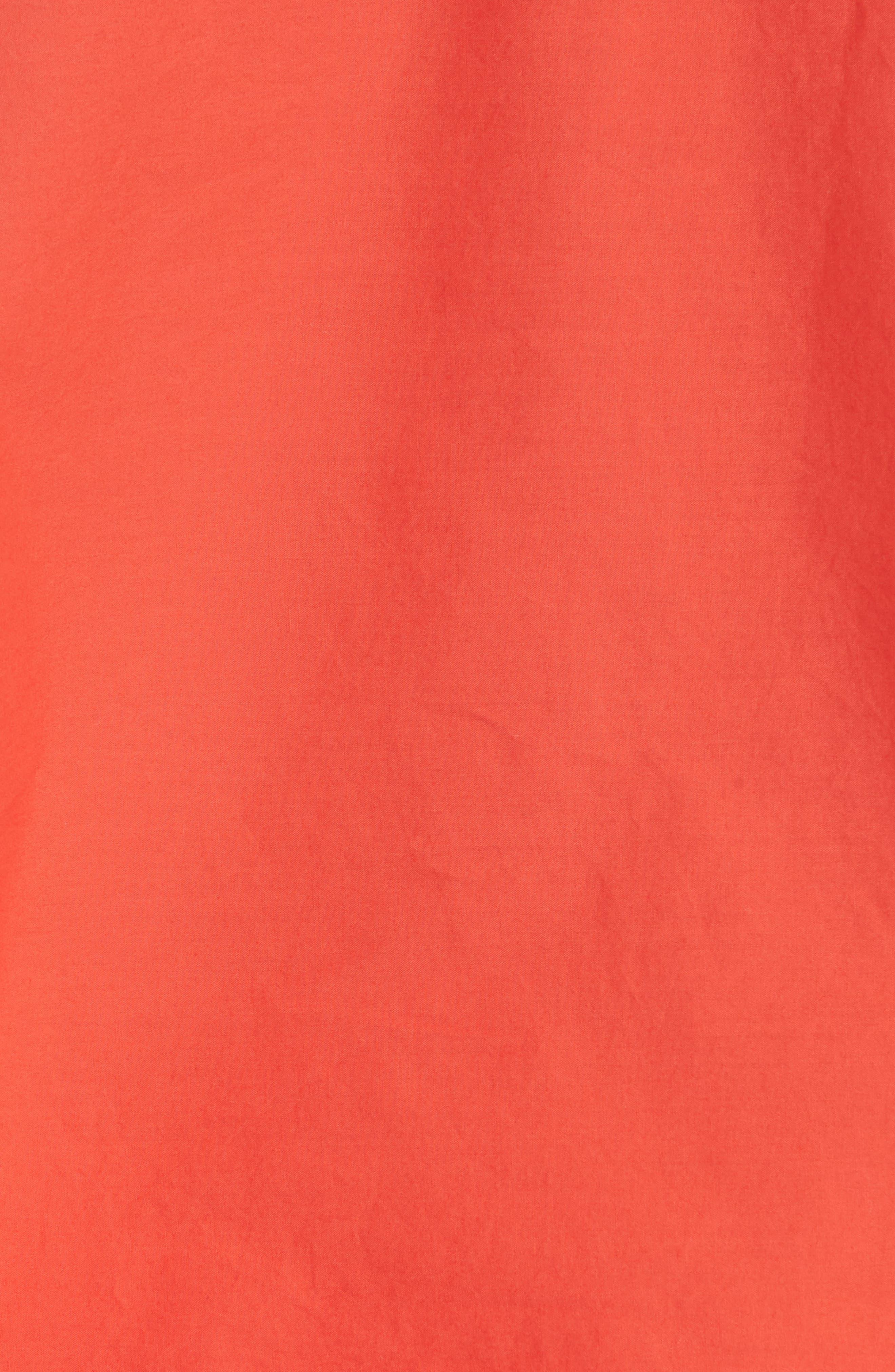 Colissa One-Shoulder Cotton Blouse,                             Alternate thumbnail 5, color,                             Salsa