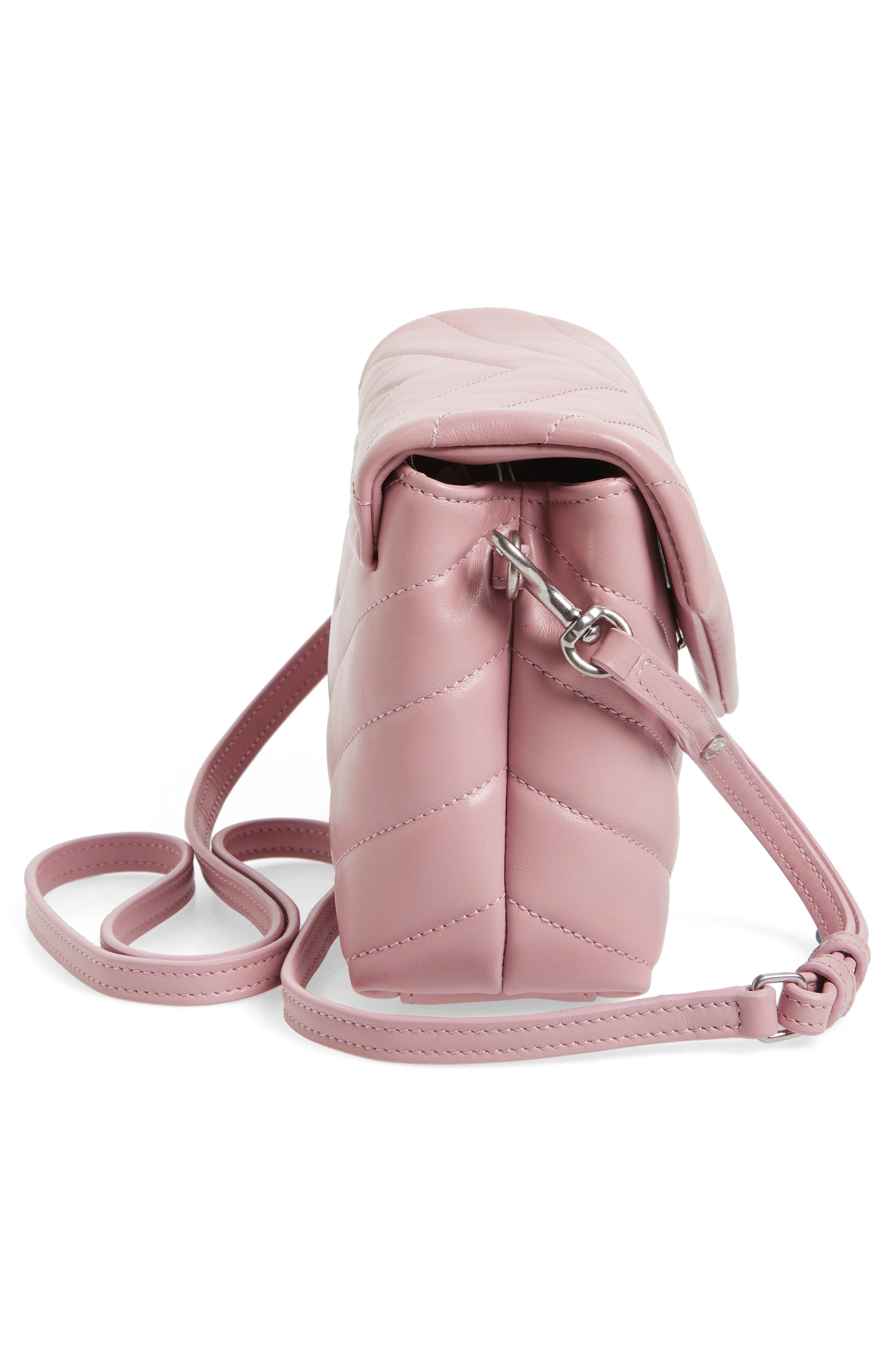 Toy LouLou Calfskin Leather Crossbody Bag,                             Alternate thumbnail 5, color,                             Tender Pink