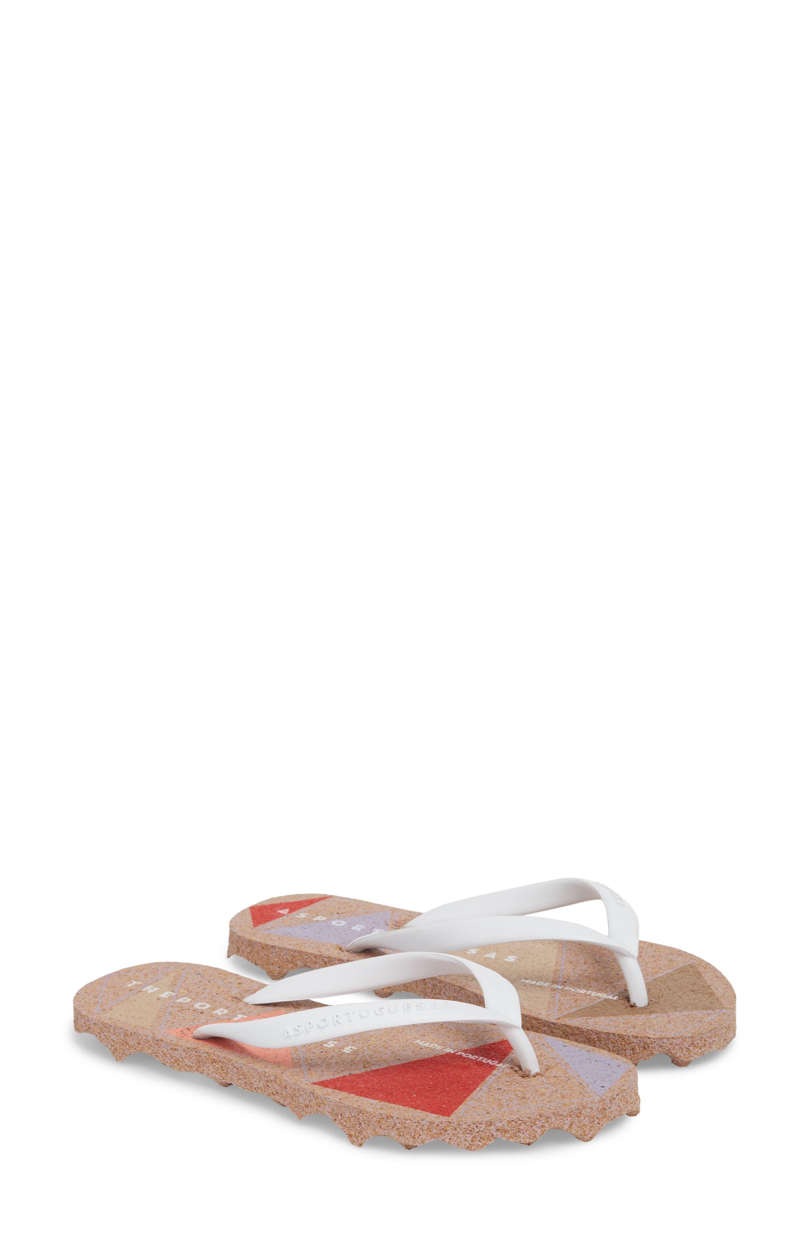 Spot 002 Flip Flop,                             Alternate thumbnail 3, color,                             White/ Rose Fabric