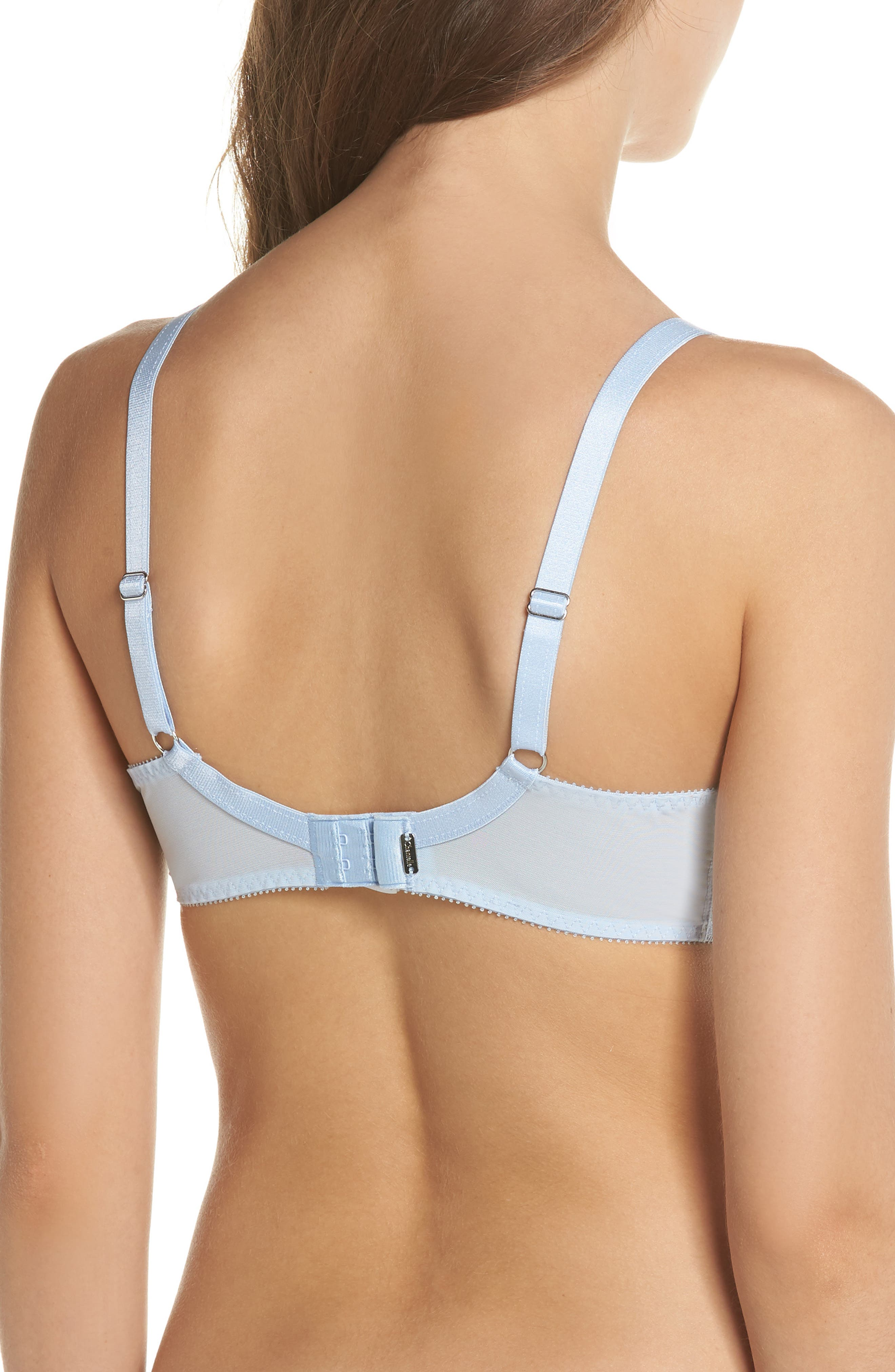 'Rive Gauche' Underwire Bra,                             Alternate thumbnail 2, color,                             Sky Blue