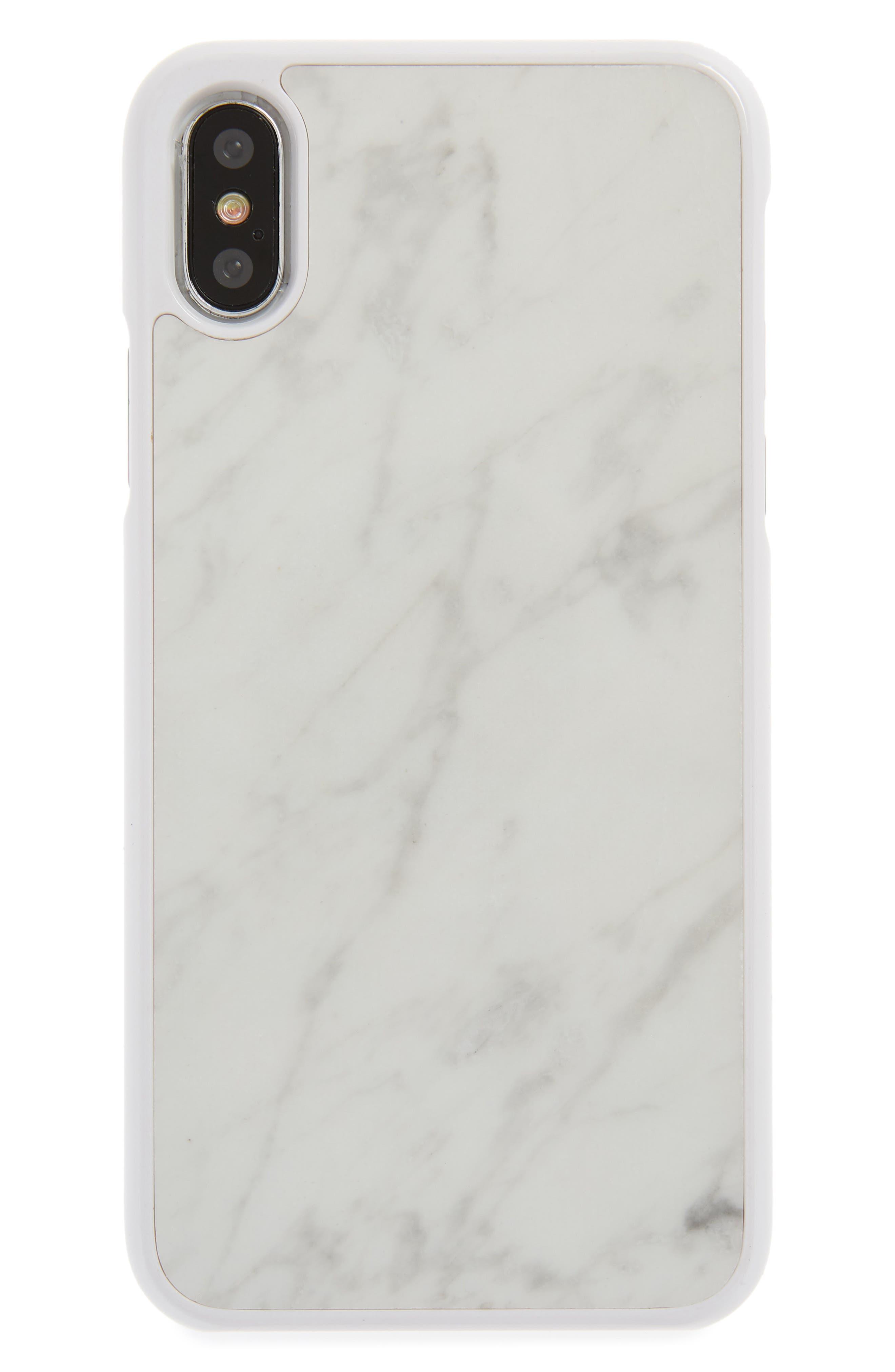 Genuine White Marble iPhone X Case,                         Main,                         color, White
