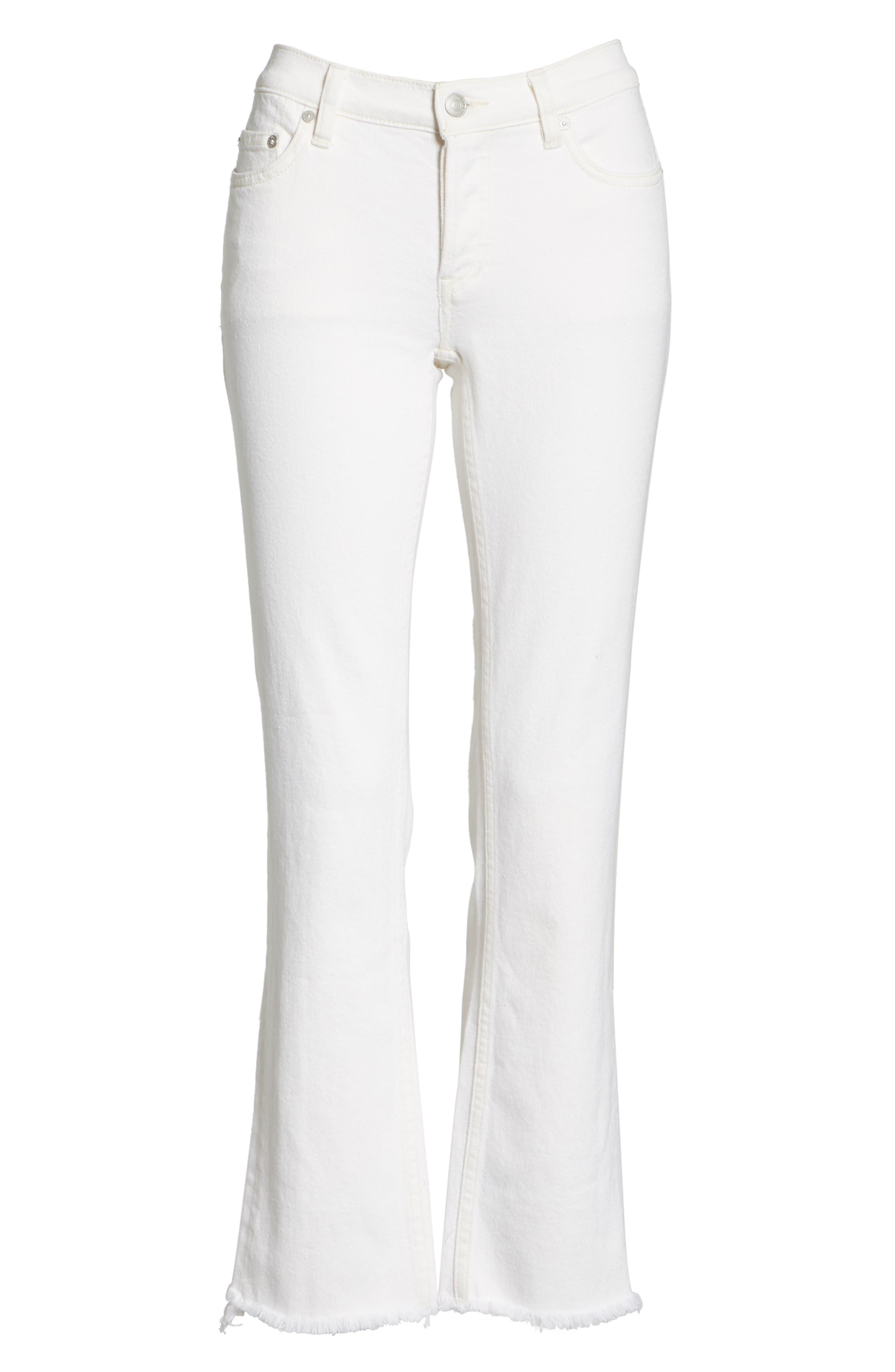 Austen Straight Leg Jeans,                             Alternate thumbnail 6, color,                             White