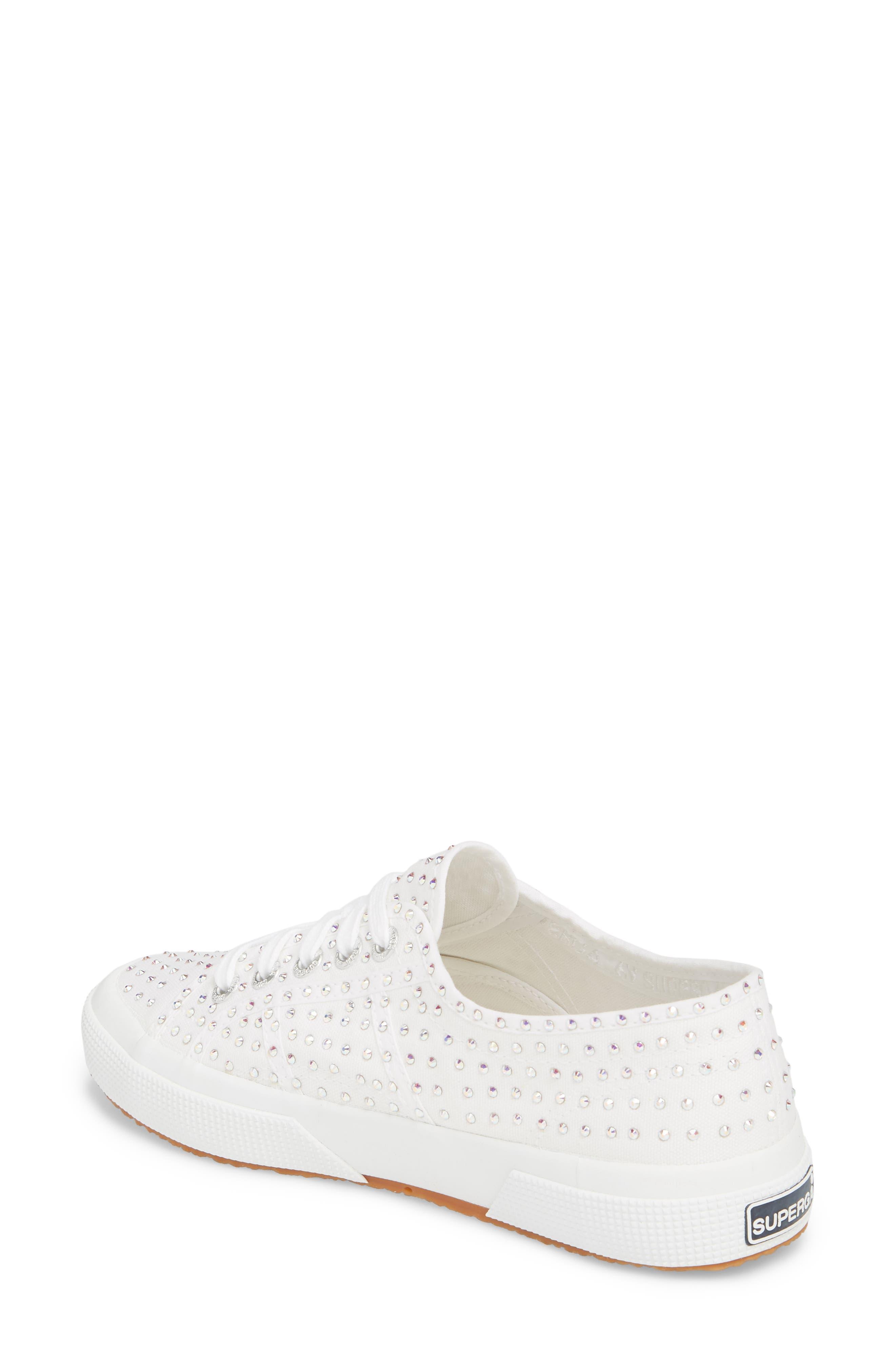 2750 Crystal Sneaker,                             Alternate thumbnail 2, color,                             White Multi
