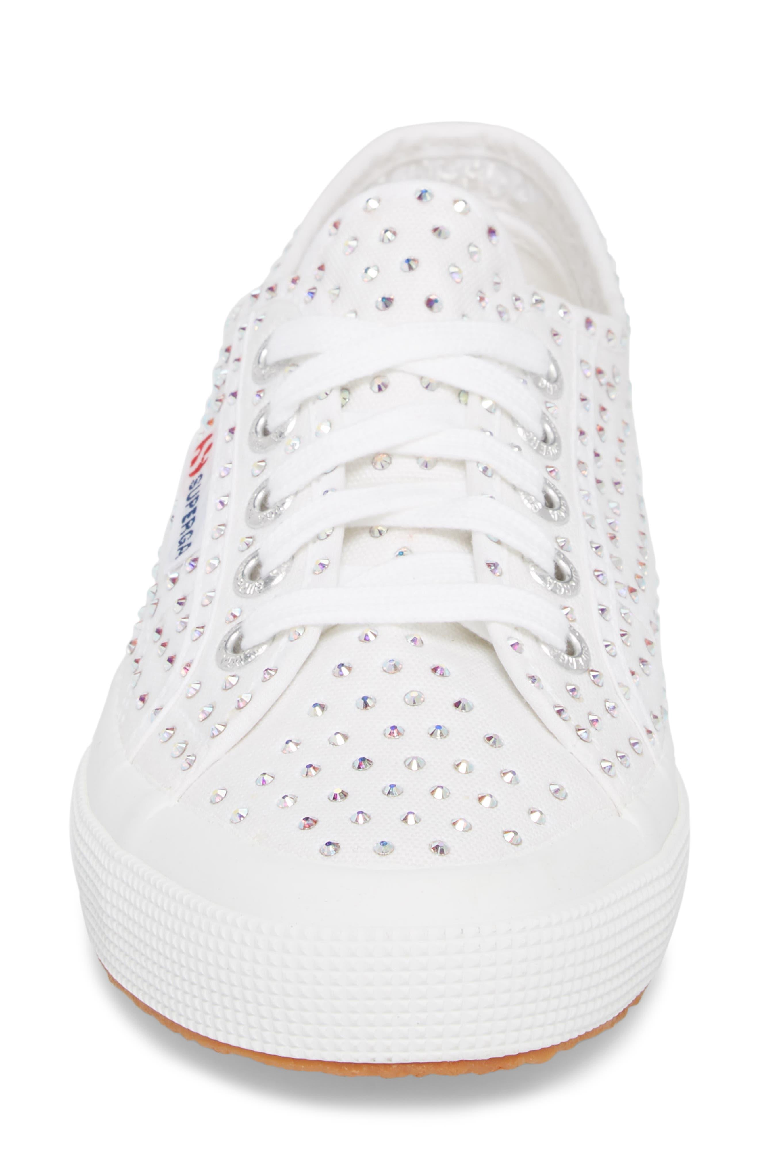 2750 Crystal Sneaker,                             Alternate thumbnail 4, color,                             White Multi