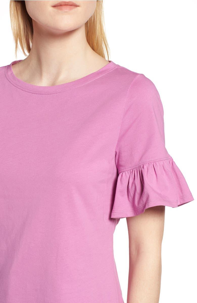 Ruffle Sleeve Top,                         Alternate,                         color, Pink Bodacious
