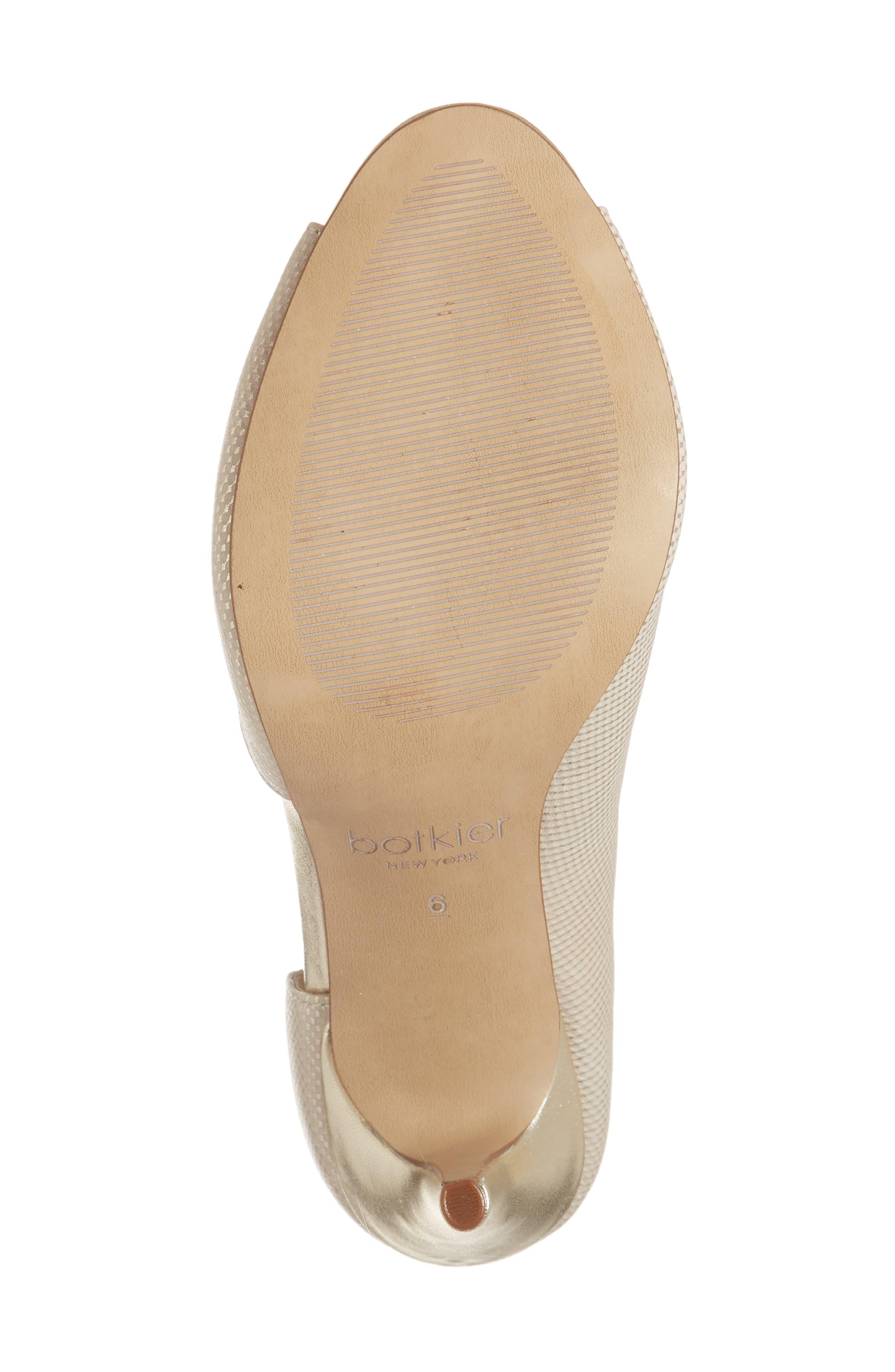 Adelia Asymmetrical Sandal,                             Alternate thumbnail 6, color,                             Gold Shimmer Fabric