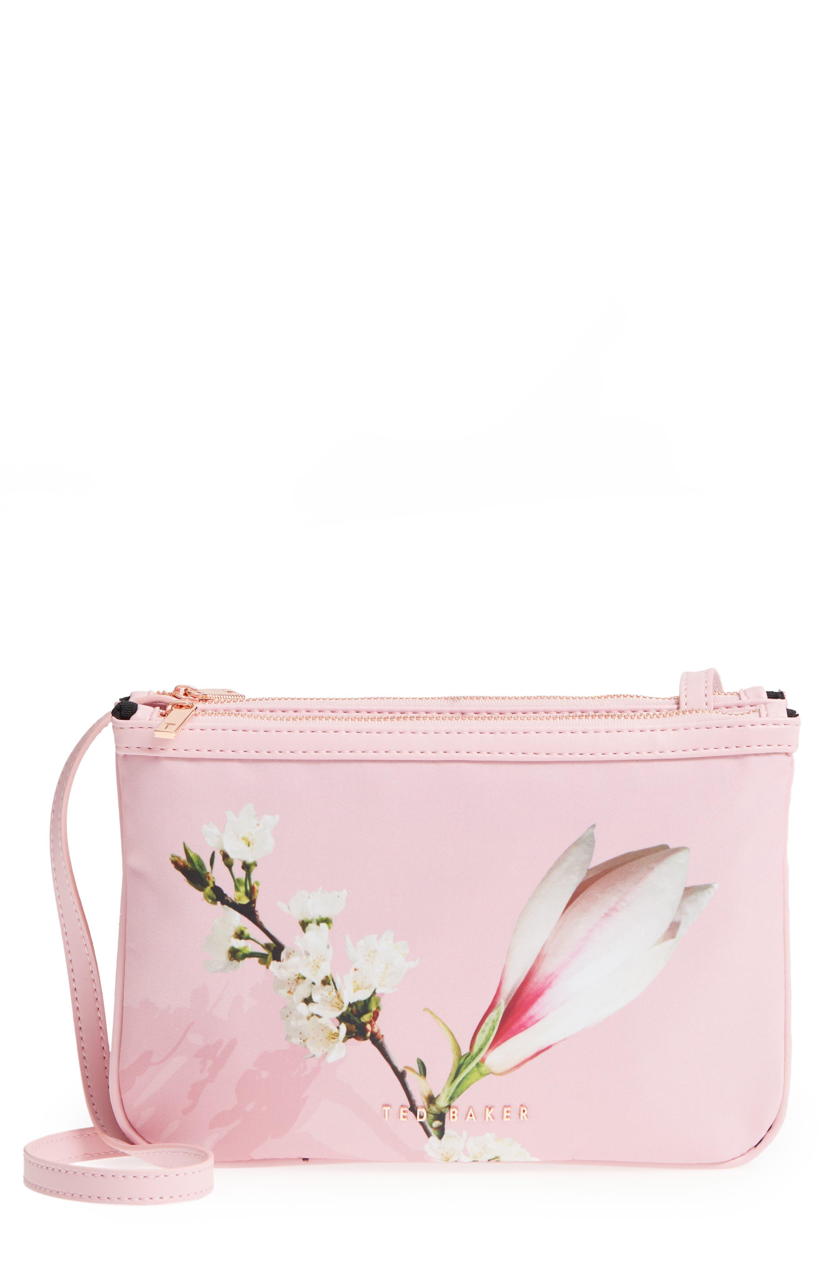 Harmony Print Crossbody Bag,                             Main thumbnail 1, color,                             Pale Pink
