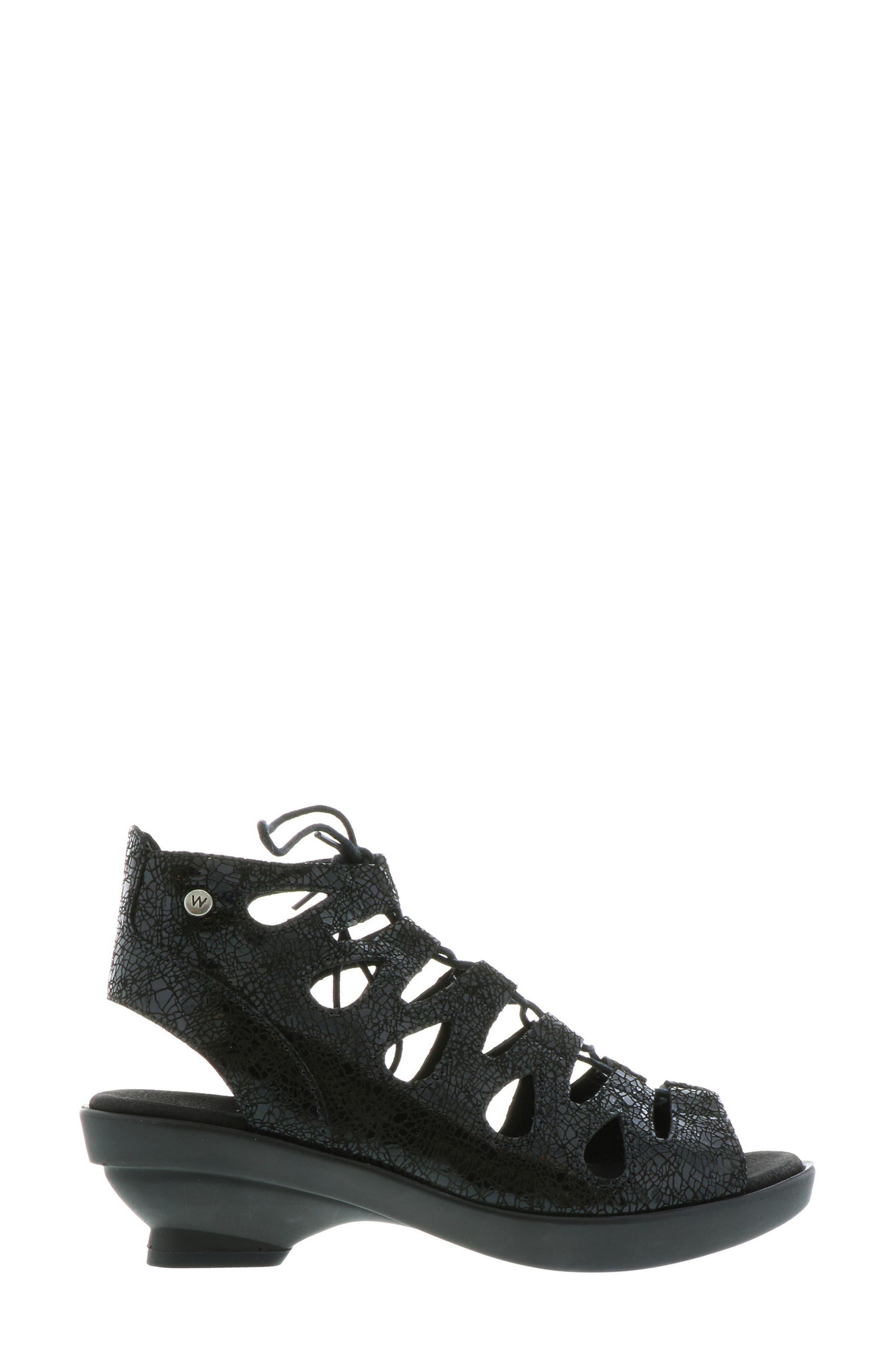 Seminyak Sandal,                             Alternate thumbnail 3, color,                             Black Suede