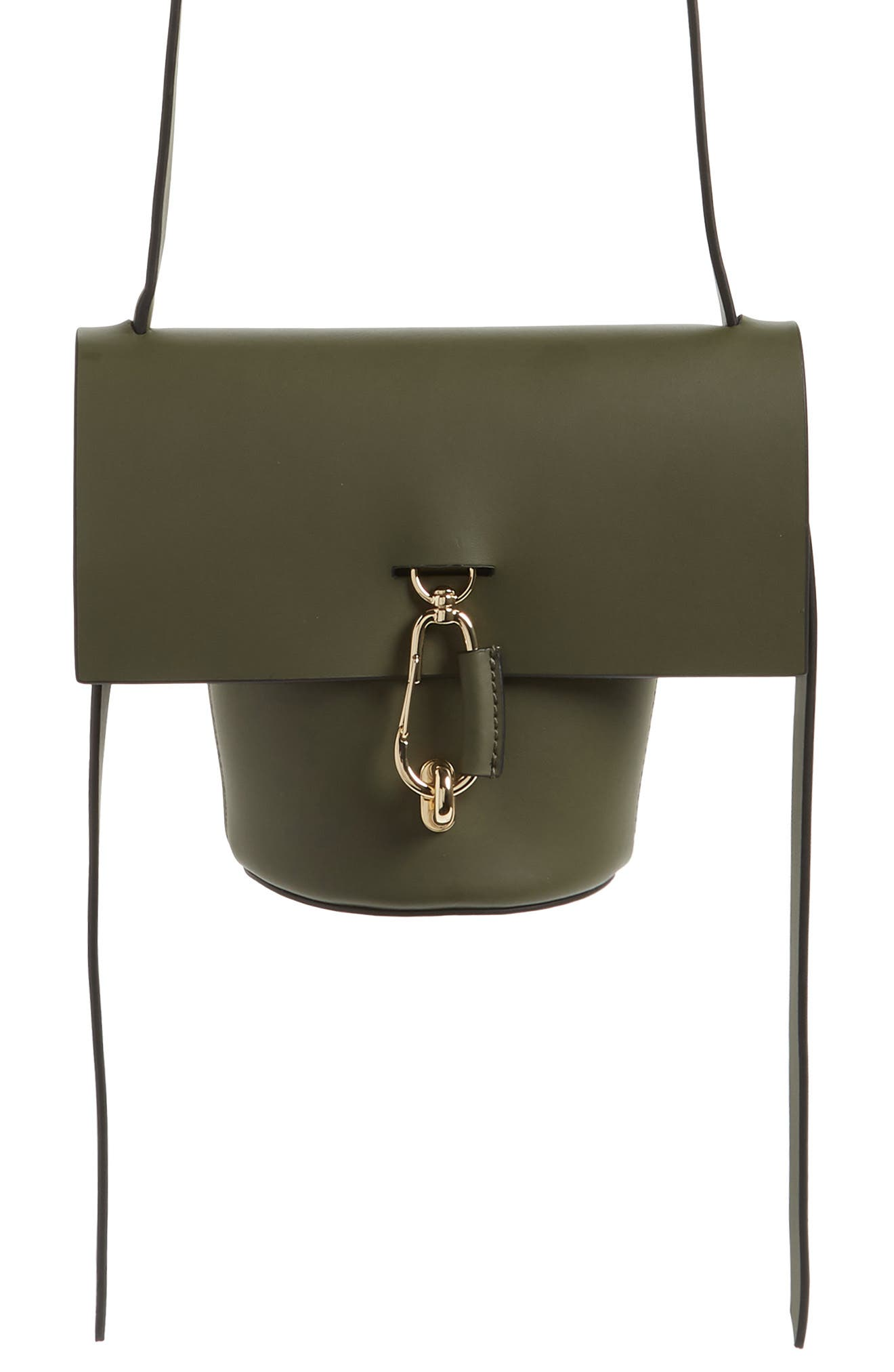 ZAC Zac Posen Mini Belay Leather Crossbody Bucket Bag