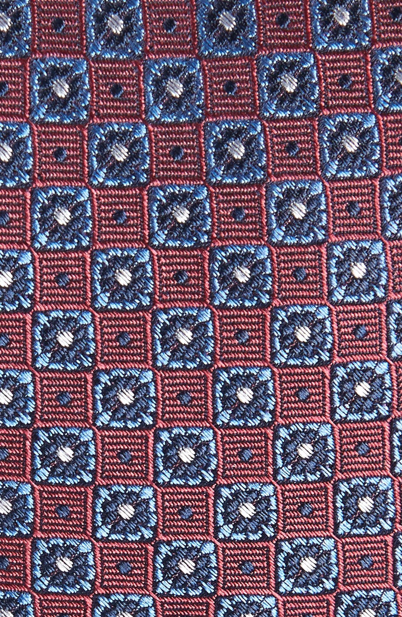 Medallion Silk Tie,                             Alternate thumbnail 2, color,                             Marsala