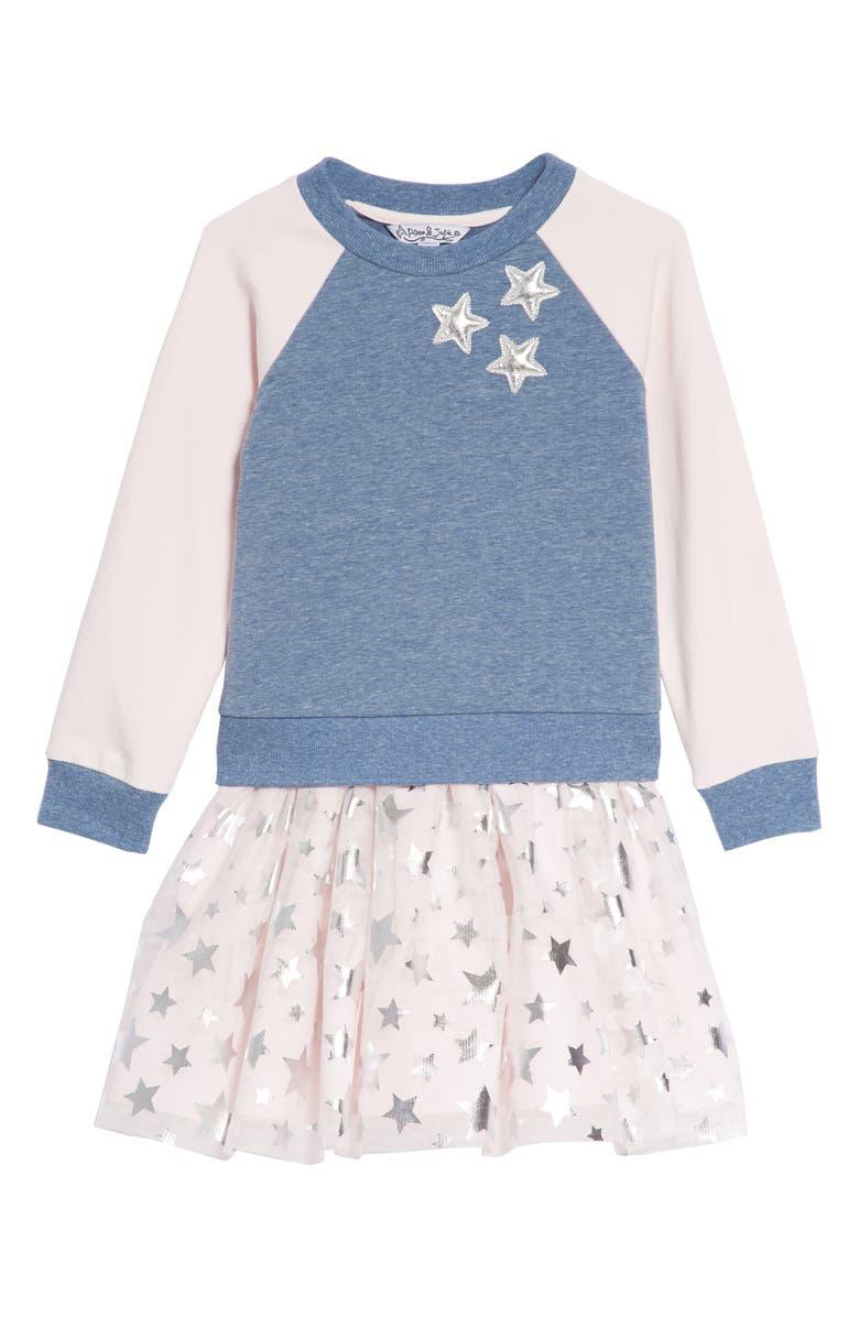 Pippa & Julie Star Tank Dress & Sweatshirt Set (Toddler Girls ...