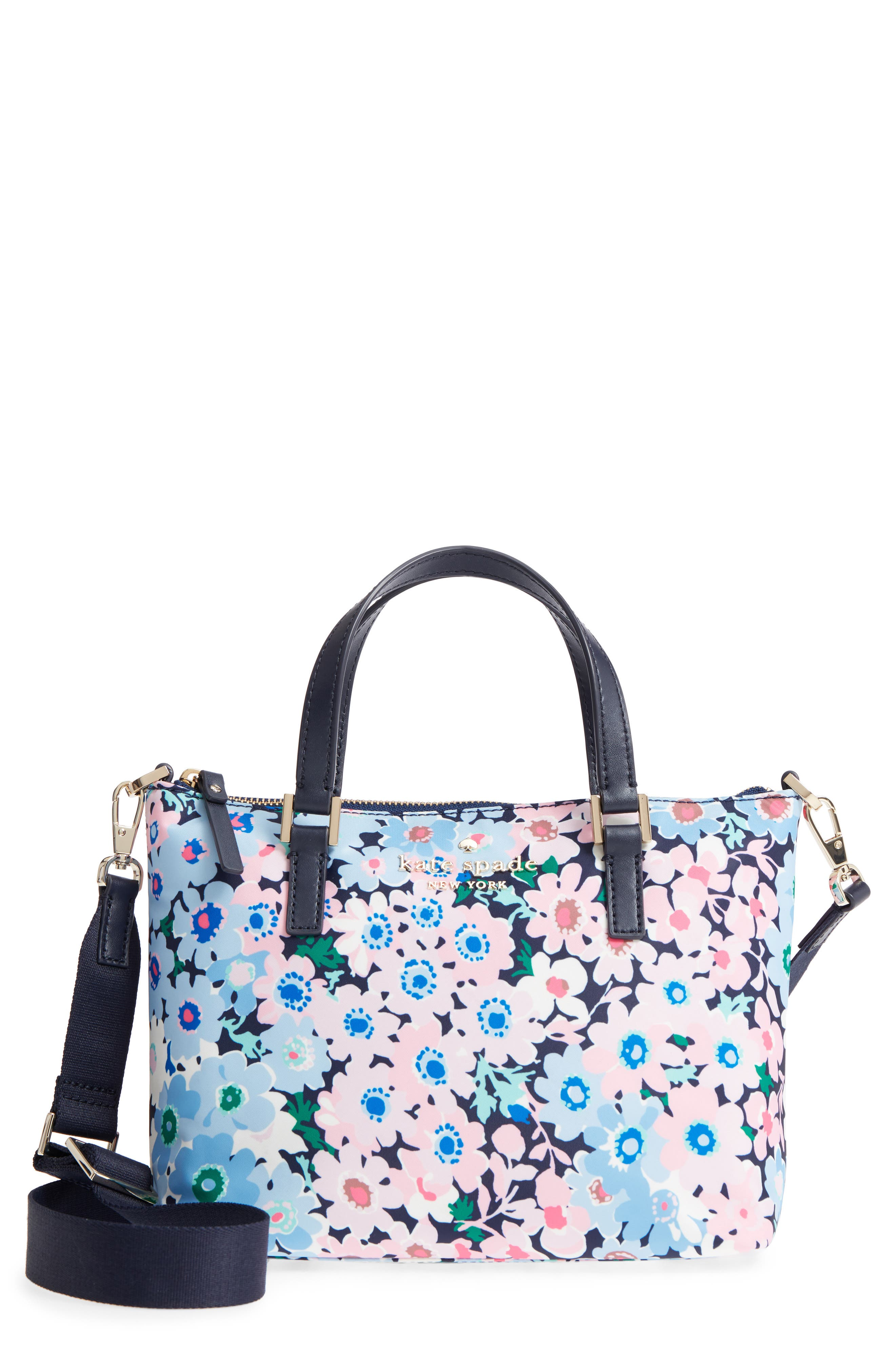 watson lane - daisy garden lucie crossbody bag,                             Main thumbnail 1, color,                             Blue Multi