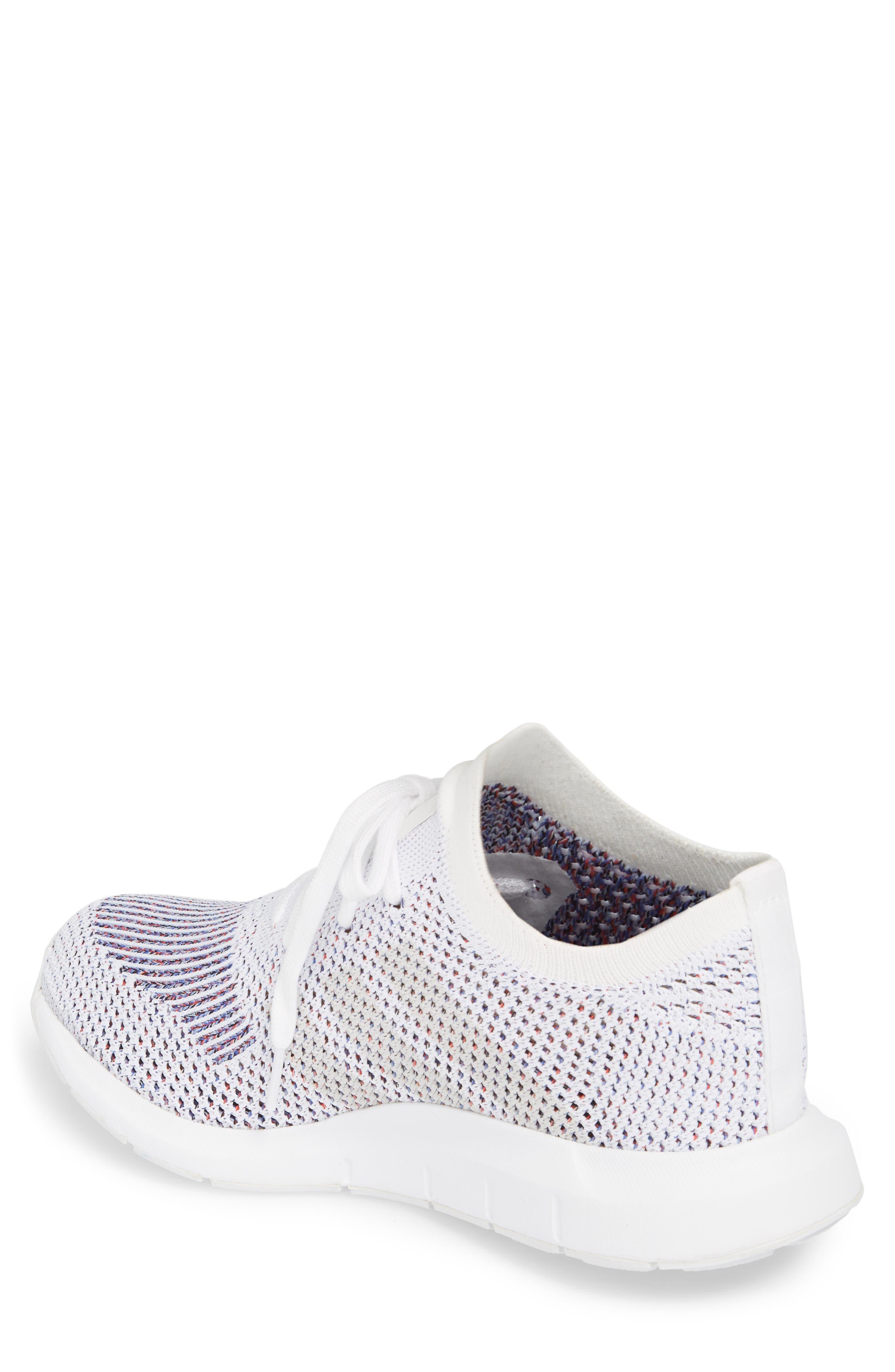 Swift Run Primeknit Training Shoe,                             Alternate thumbnail 2, color,                             White/ Grey Heather Grey