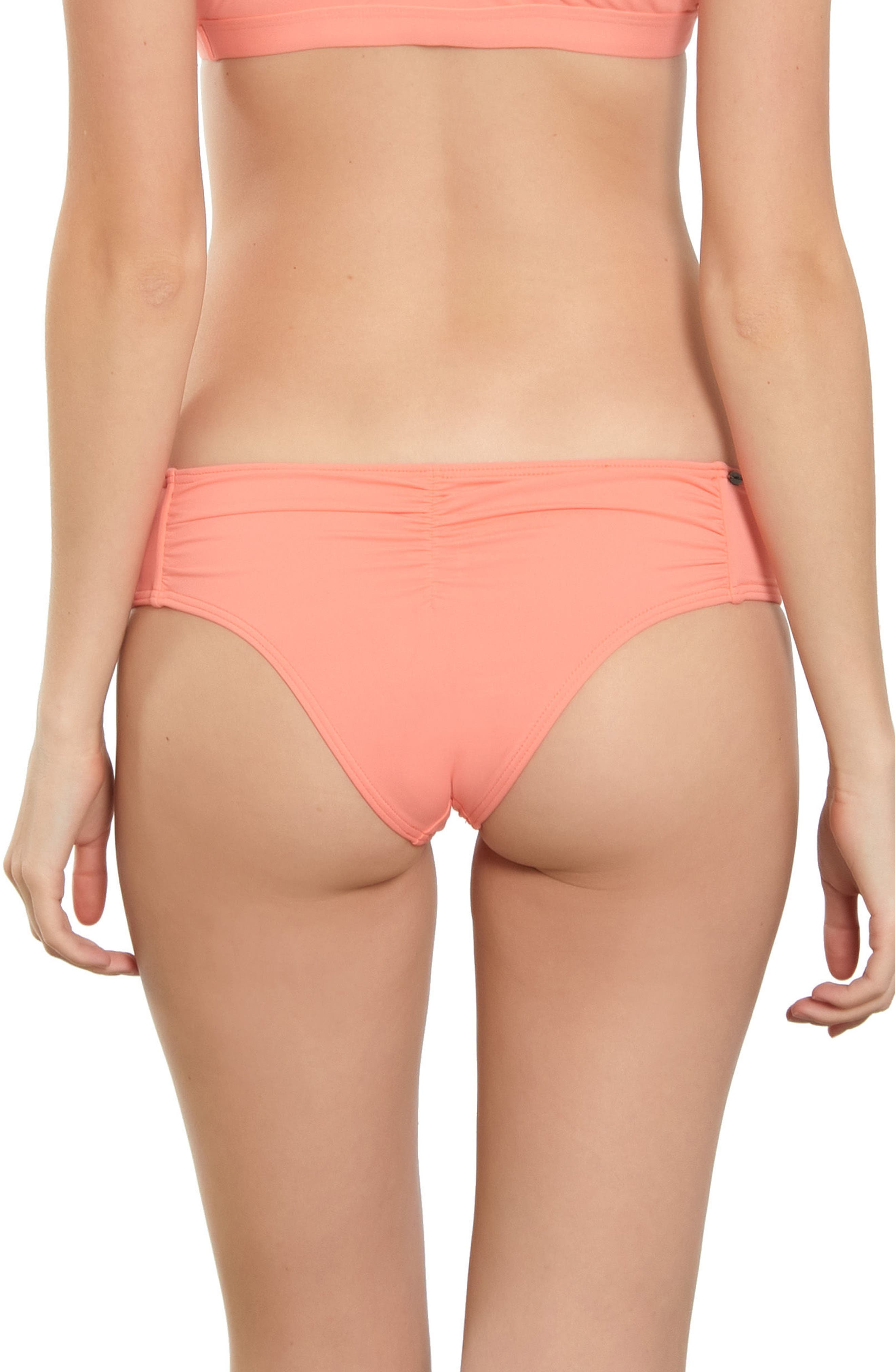 Salt Water Solids Hipster Bikini Bottoms,                             Alternate thumbnail 2, color,                             Mai Tai