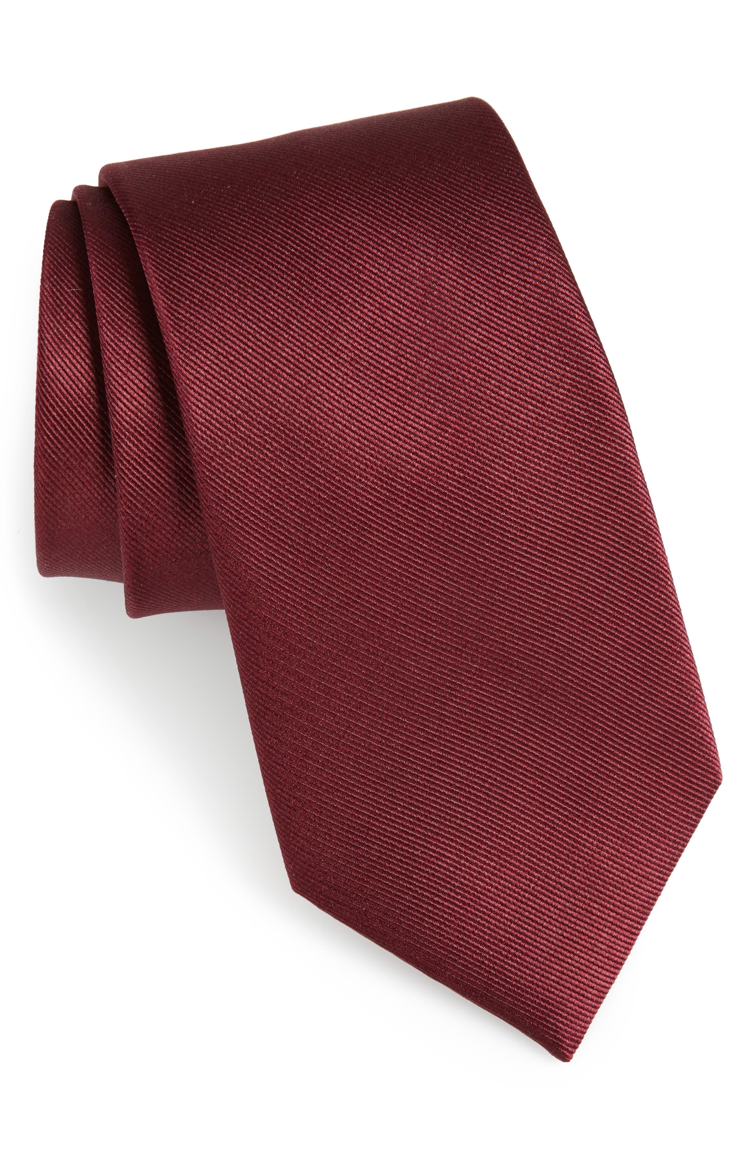 The Tie Bar Solid Silk Tie (X-Long)
