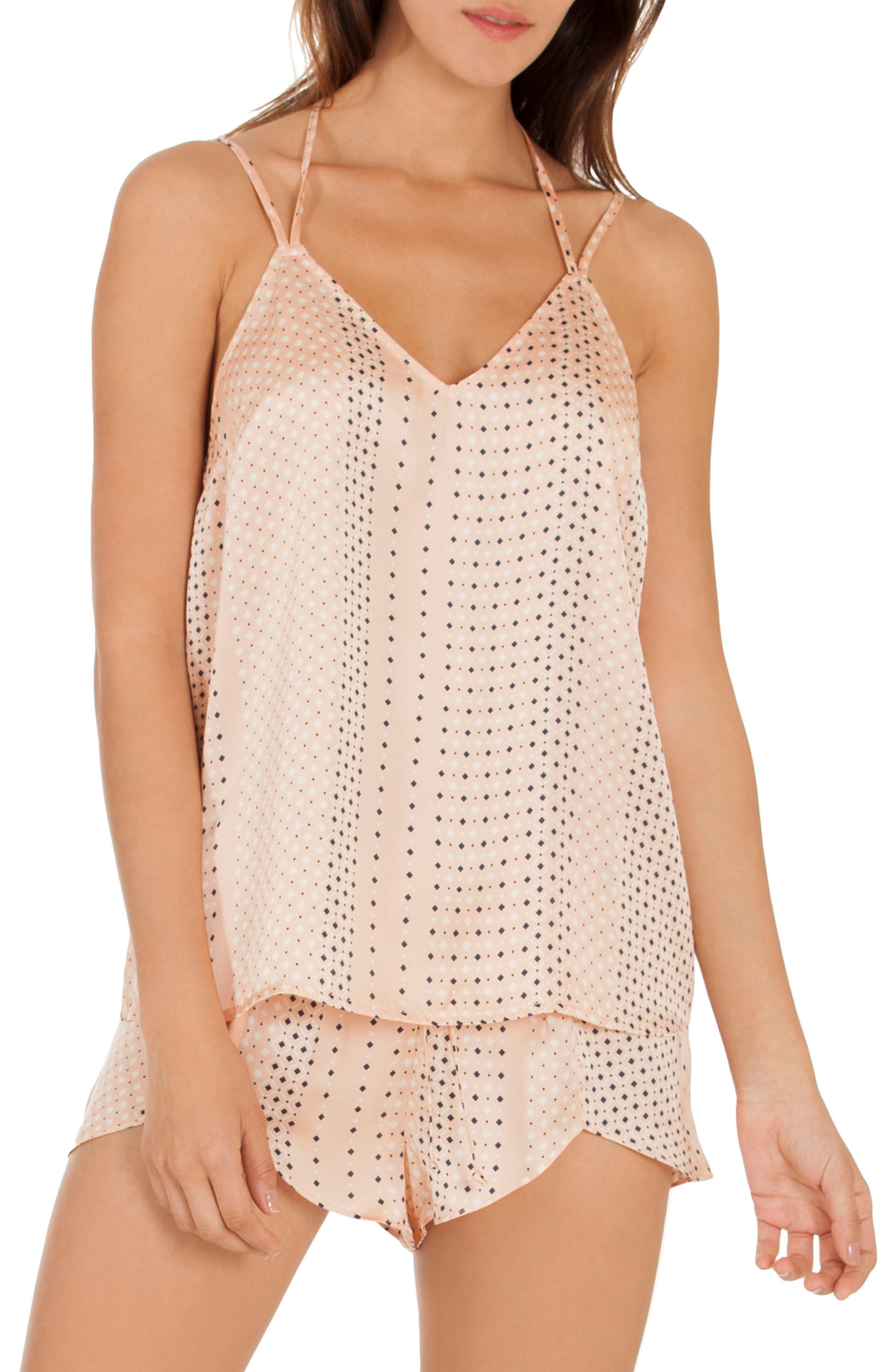 Geo Dot Camisole,                             Main thumbnail 1, color,                             Coral Geo