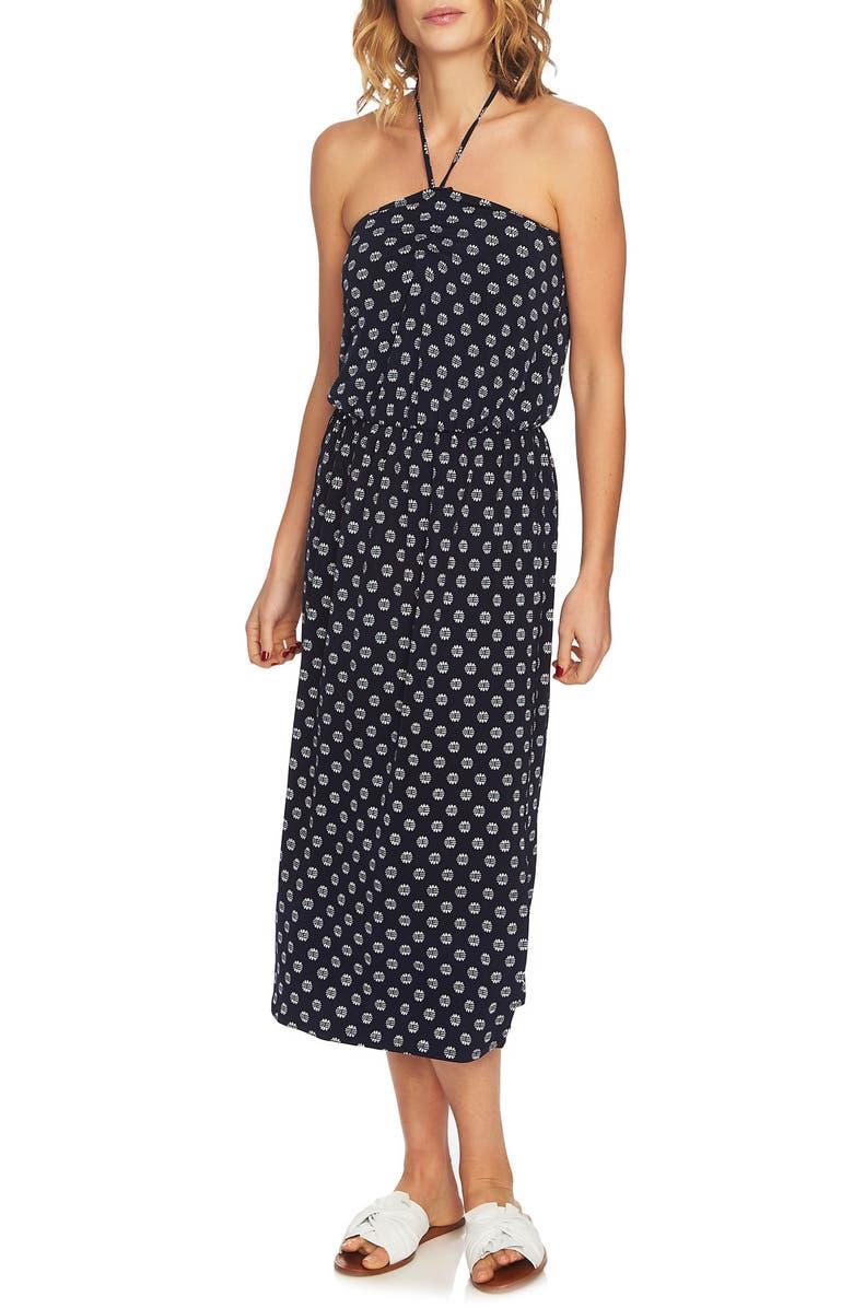 Cinched Front Halter Dress