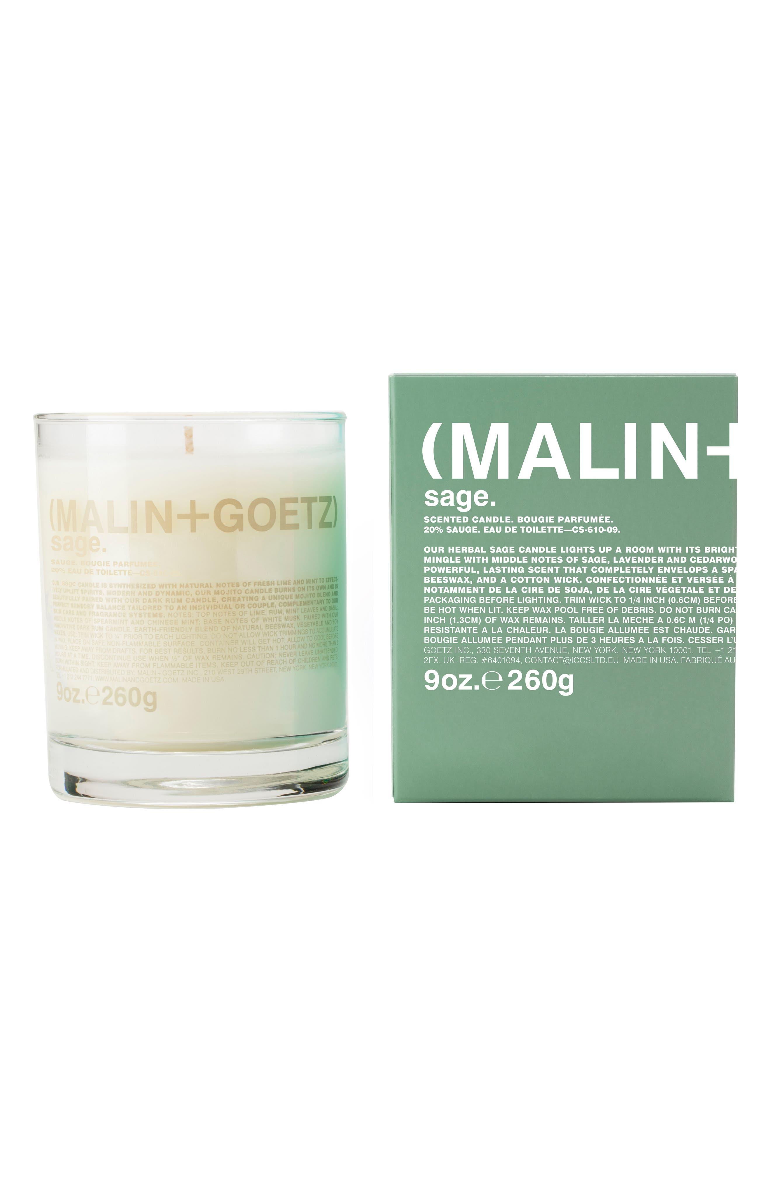 Malin + Goetz Candle,                             Alternate thumbnail 2, color,                             Sage