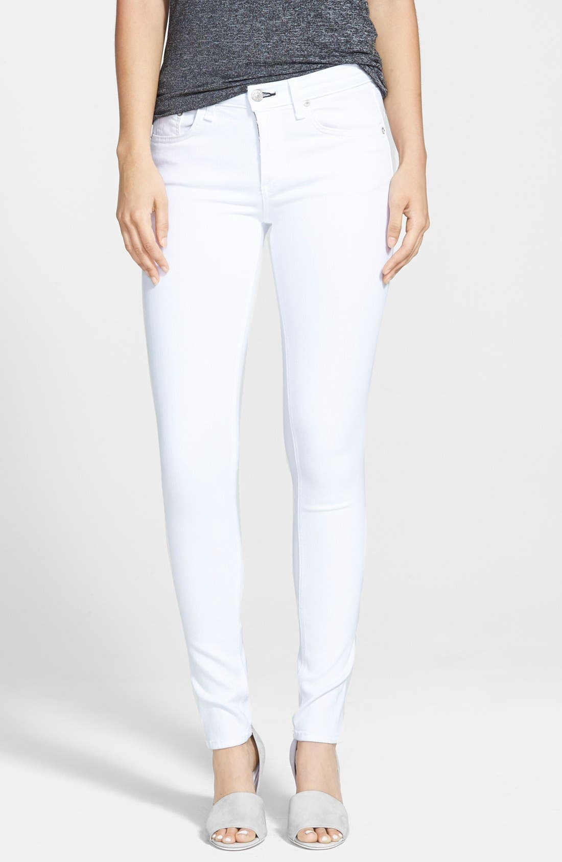 'The Skinny' Jeans,                             Main thumbnail 1, color,                             Bright White