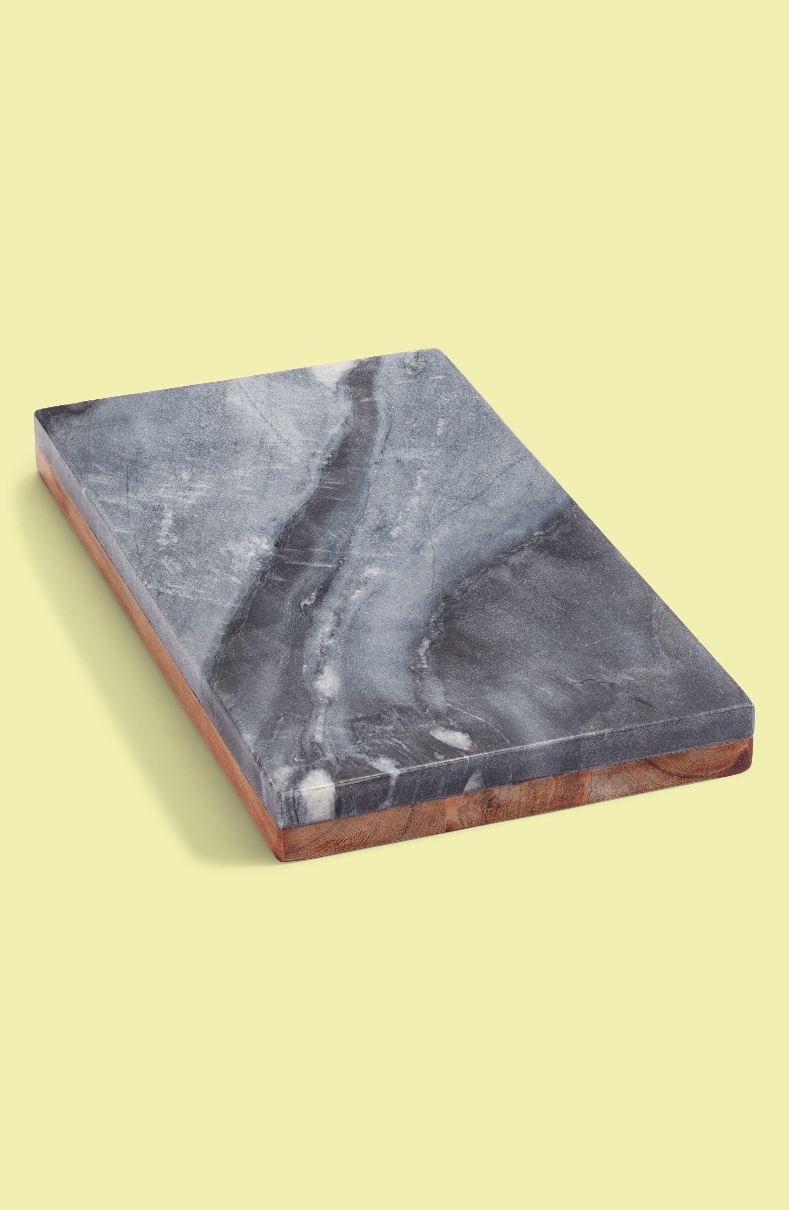 Blue Marble & Mango Wood Reversible Serving Board,                             Main thumbnail 1, color,                             Wood