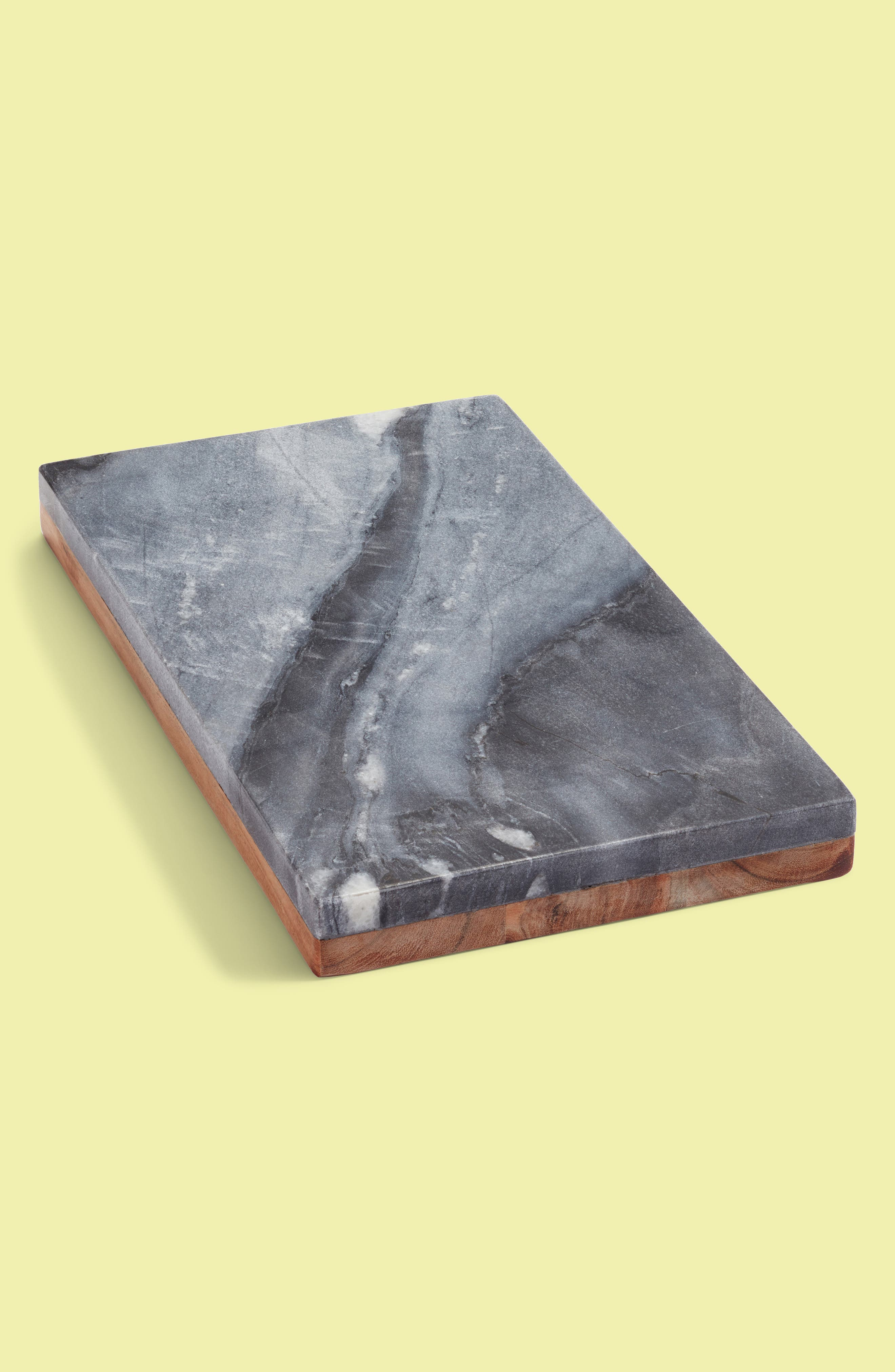 Blue Marble & Mango Wood Reversible Serving Board,                         Main,                         color, Wood